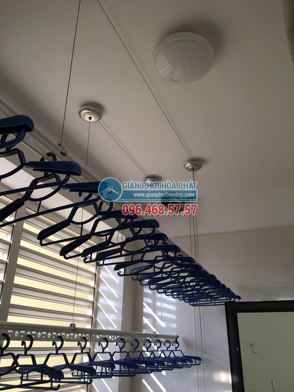 Thiết kế bộ ròng rọc của bộ giàn phơi thông minh Hòa Phát có tải trọng trên 60kg