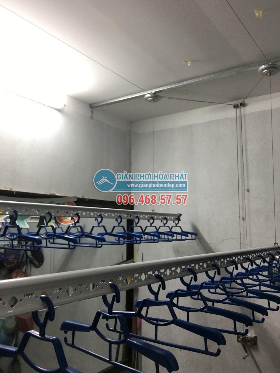 Hoàn thiện lắp đặt giàn phơi thông minh nhà cô Hoa, ngõ 238 Âu Cơ, Tây Hồ