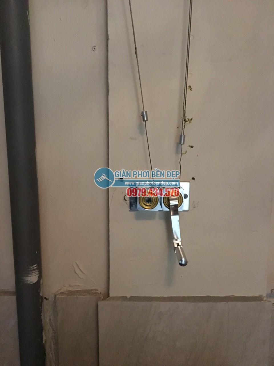 Hoàn thiện lắp đặt giàn phơi thông minh nhà cô Liên, chung cư CT5 Định Công - 01