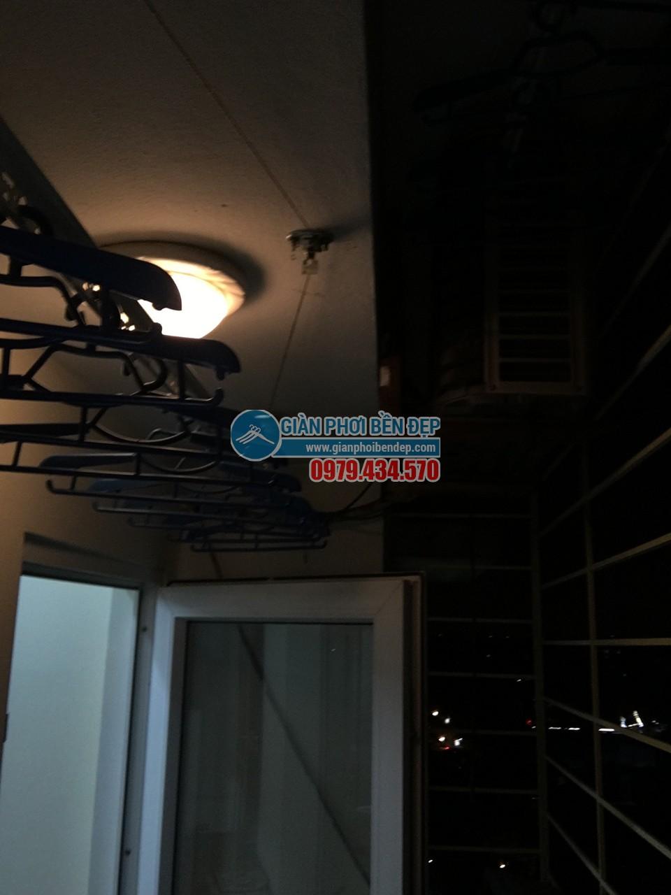 Hoàn thiện lắp đặt giàn phơi thông minh nhà cô Liên, chung cư CT5 Định Công - 06