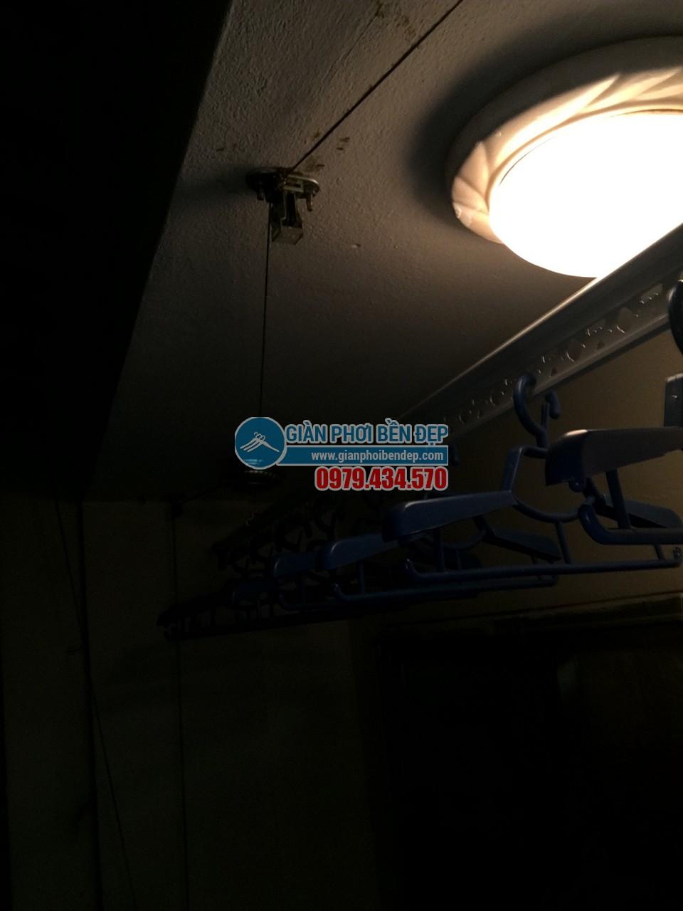 Hoàn thiện lắp đặt giàn phơi thông minh nhà cô Liên, chung cư CT5 Định Công - 02