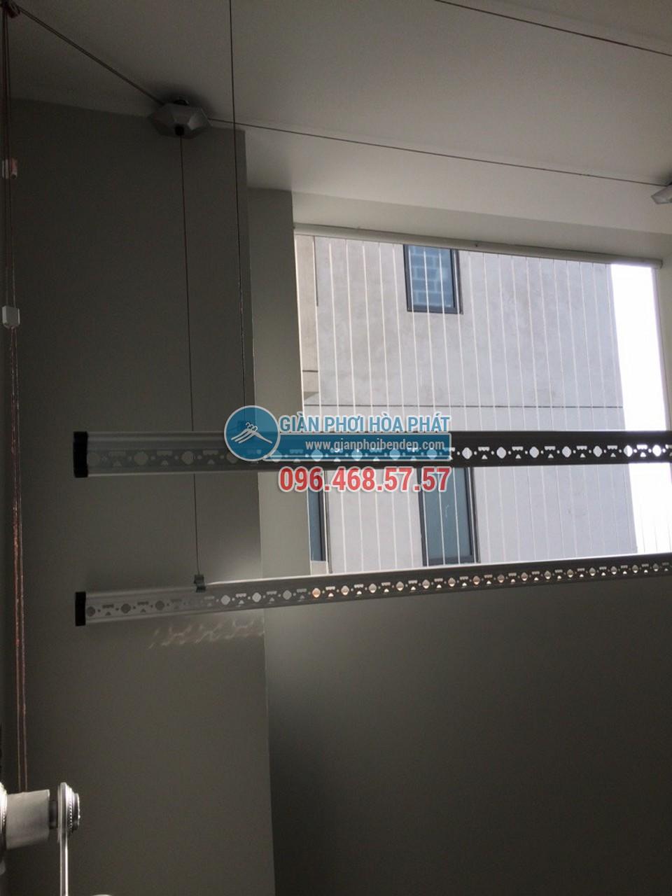 Lắp đặt giàn phơi thông minh cho ban công chung cư nhà chị Hà, tòa Linh Đàm HH2