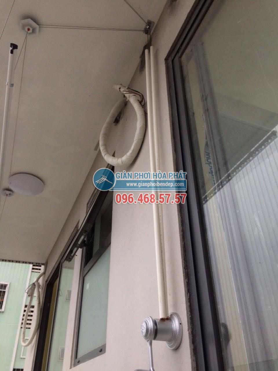 Lắp đặt giàn phơi thông minh cho ban công dài hẹp nhà anh Nam, tòa HH4 Linh Đàm - 01