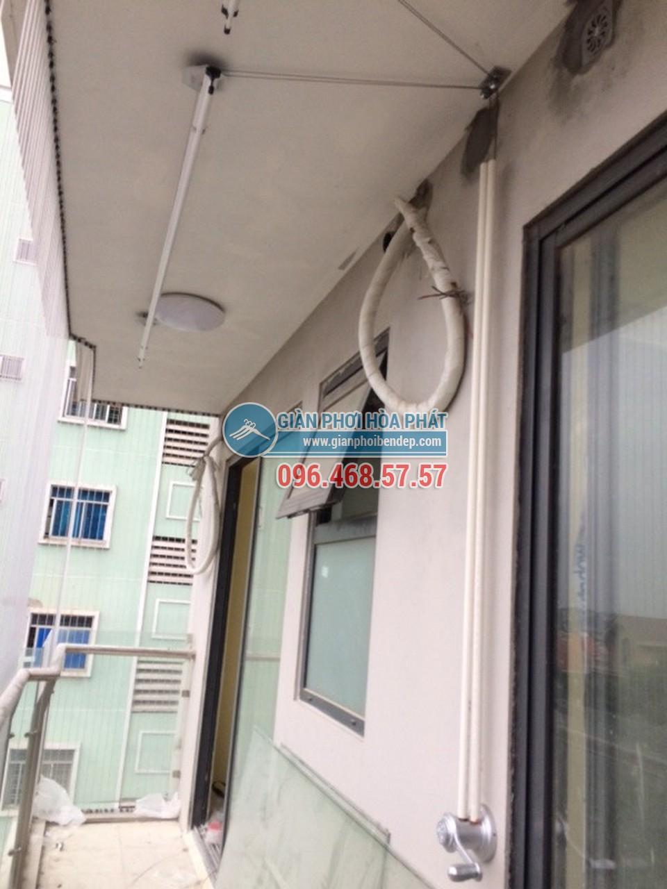 Lắp đặt giàn phơi thông minh cho ban công dài hẹp nhà anh Nam, tòa HH4 Linh Đàm - 04