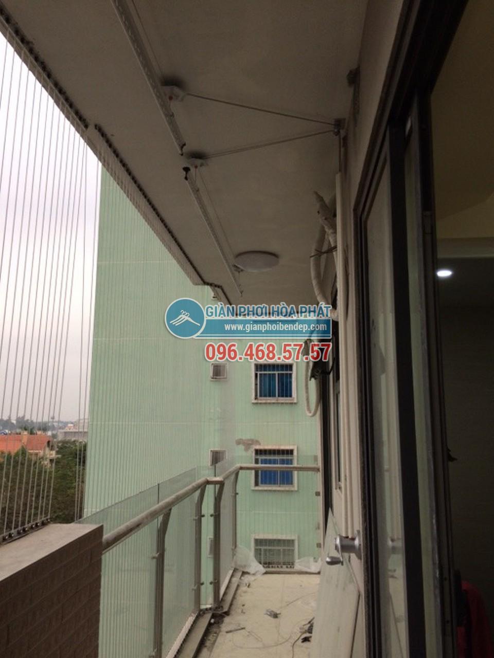 Lắp đặt giàn phơi thông minh cho ban công dài hẹp nhà anh Nam, tòa HH4 Linh Đàm - 05
