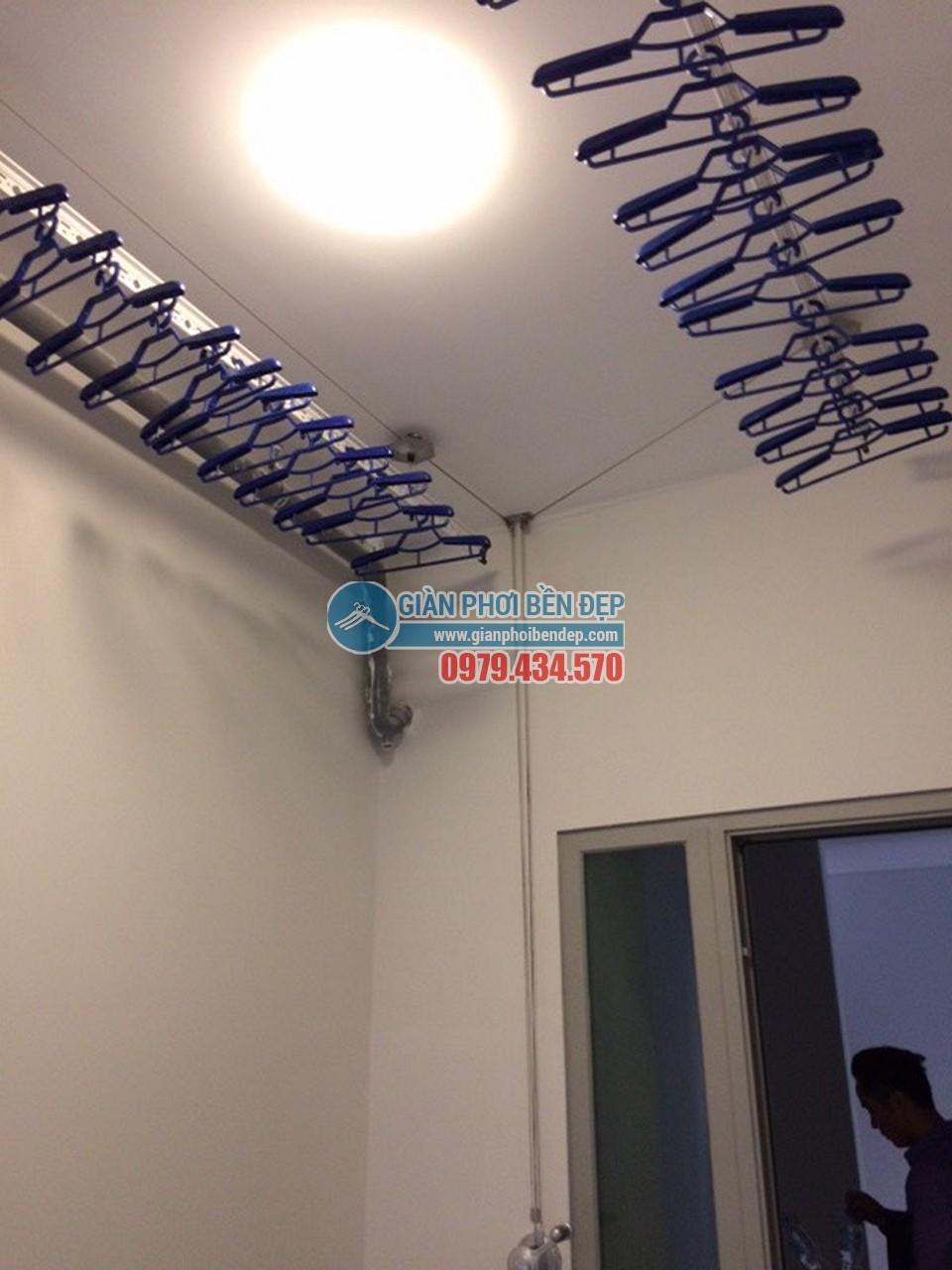 Lắp đặt giàn phơi thông minh tại lô gia nhà chị Hòa, Taseco Complex Ngoại Giao Đoàn - 03