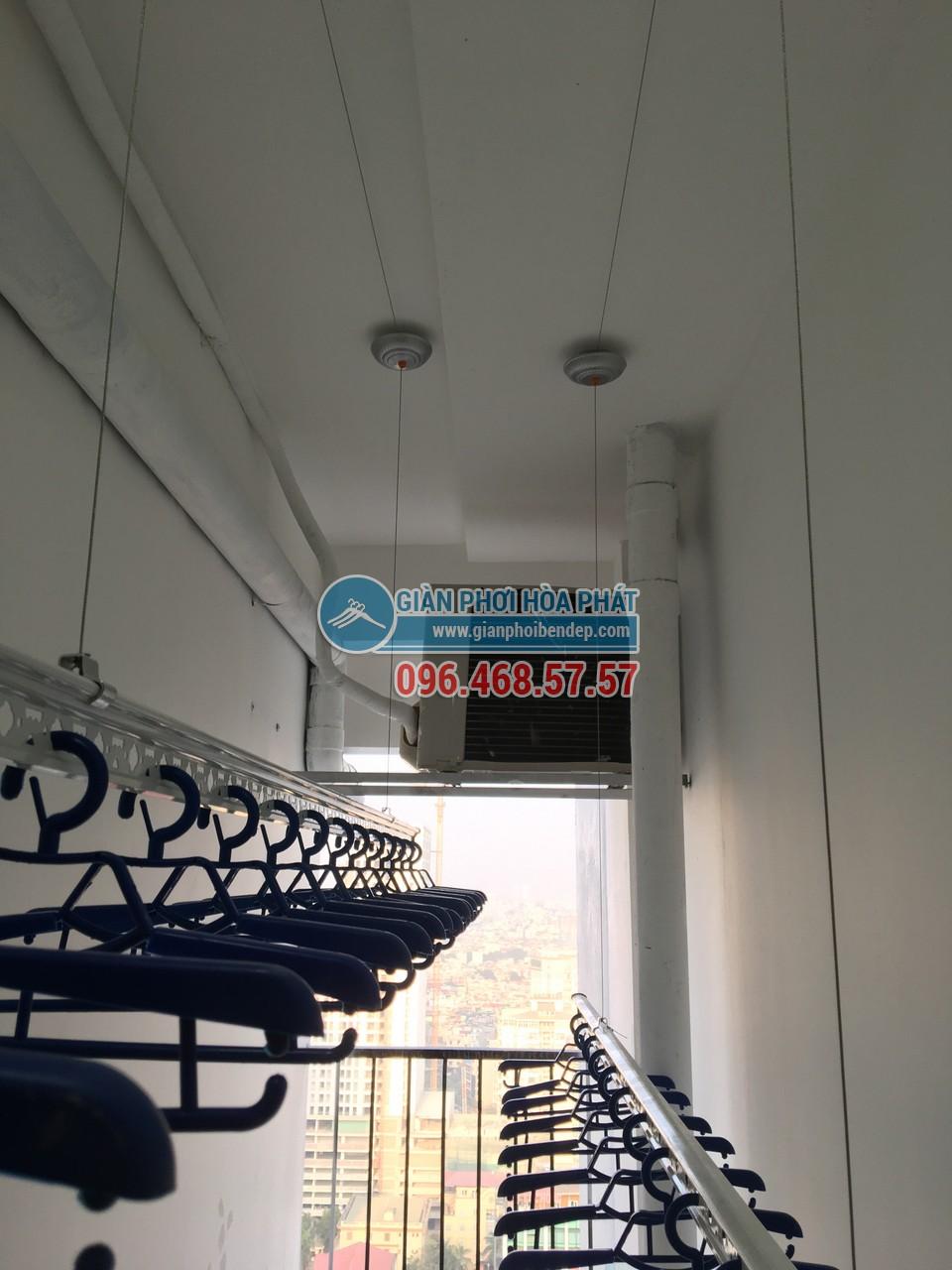 Hoàn thiện lắp đặt giàn phơi thông minh tại lô gia nhà chú Hưng, Golden West - 06