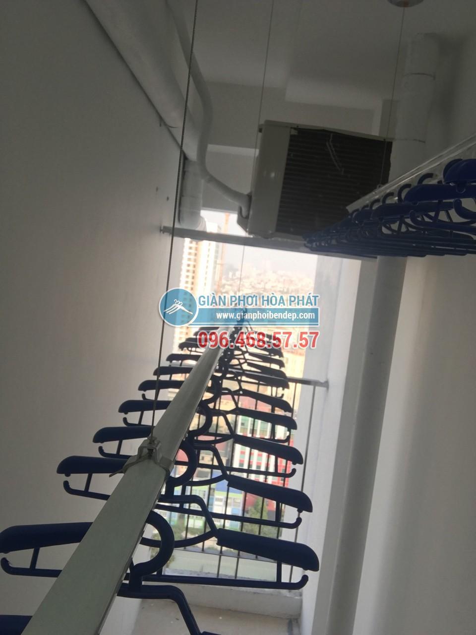 Hoàn thiện lắp đặt giàn phơi thông minh tại lô gia nhà chú Hưng, Golden West - 02