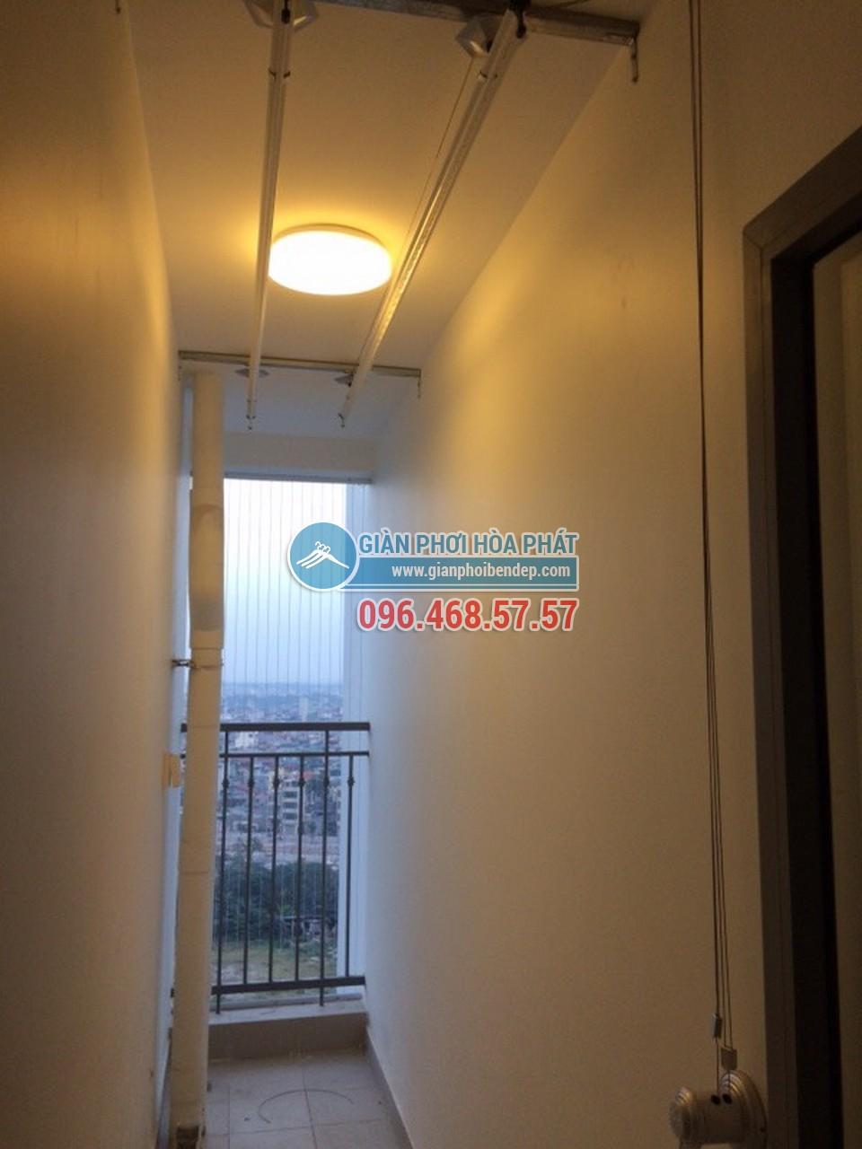 Lắp giàn phơi thông minh cho lô gia nhỏ nhà chị Thảo, tòa Park 5, Park Hill - 05