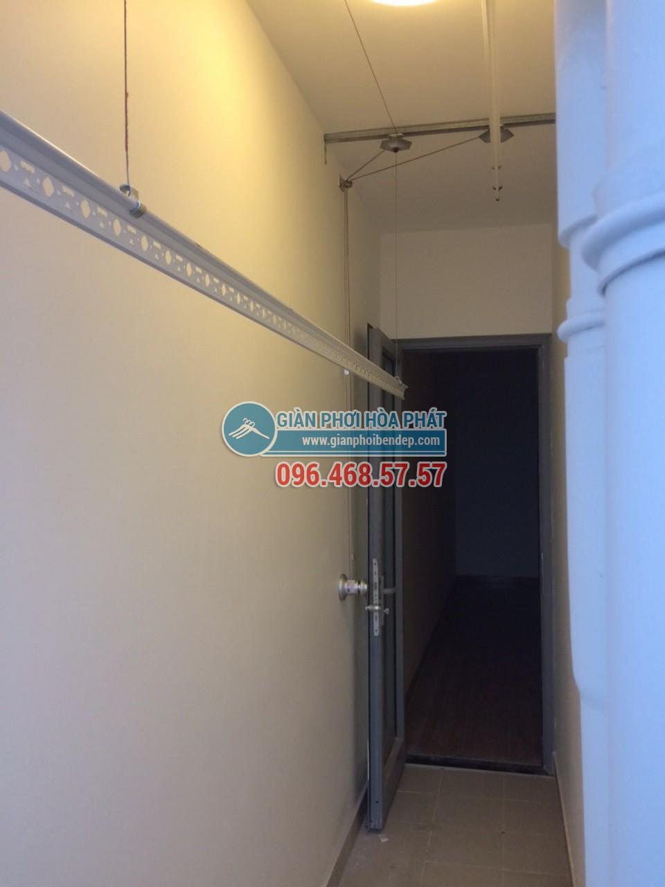 Lắp giàn phơi thông minh cho lô gia nhỏ nhà chị Thảo, tòa Park 5, Park Hill - 02