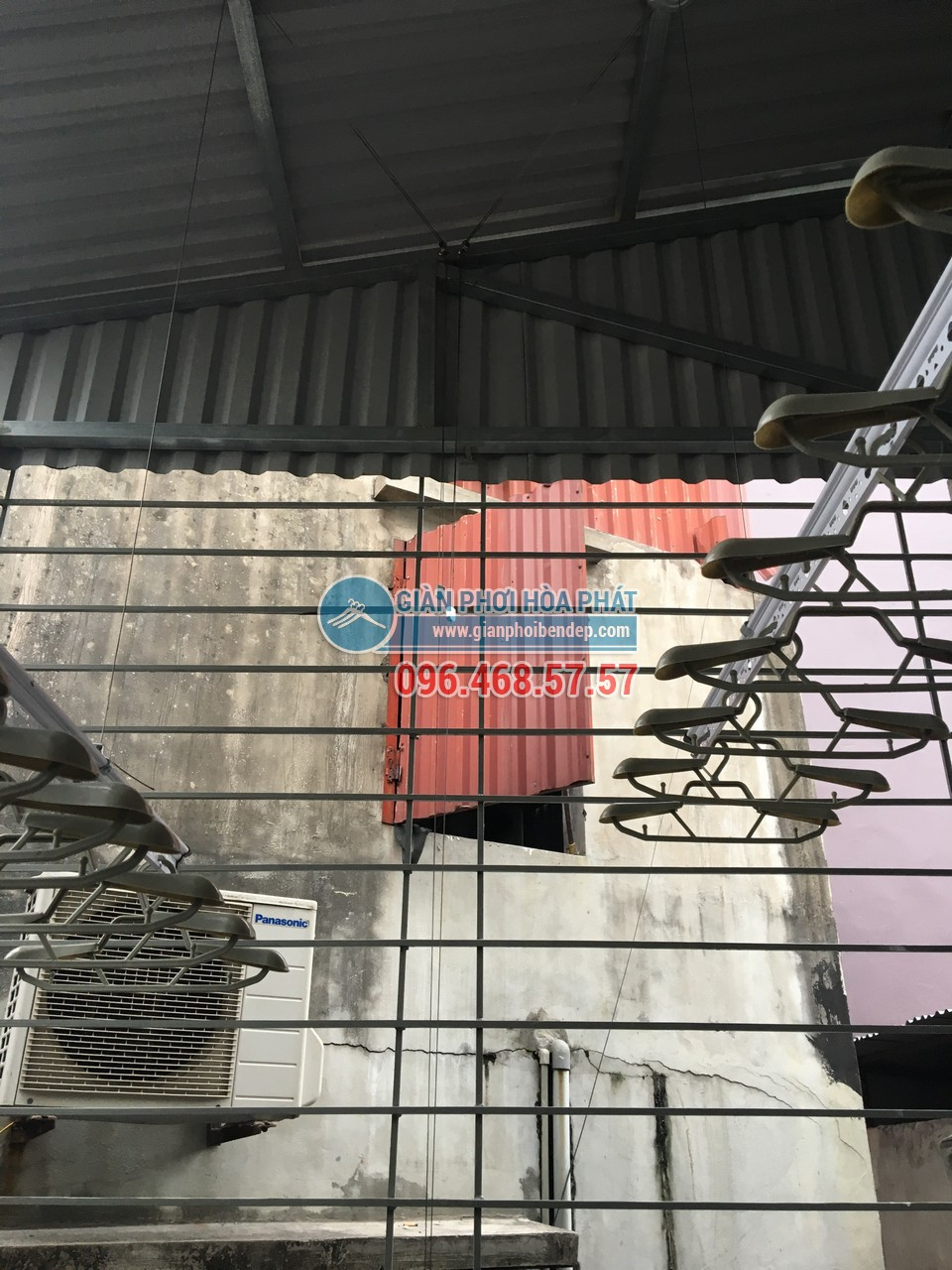 Lắp giàn phơi thông minh cho sân phơi bằng mái tôn nhà anh Chiến, Nguyễn Ngọc Nại - 07