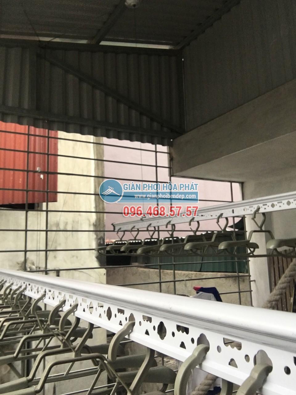 Lắp giàn phơi thông minh cho sân phơi bằng mái tôn nhà anh Chiến, Nguyễn Ngọc Nại