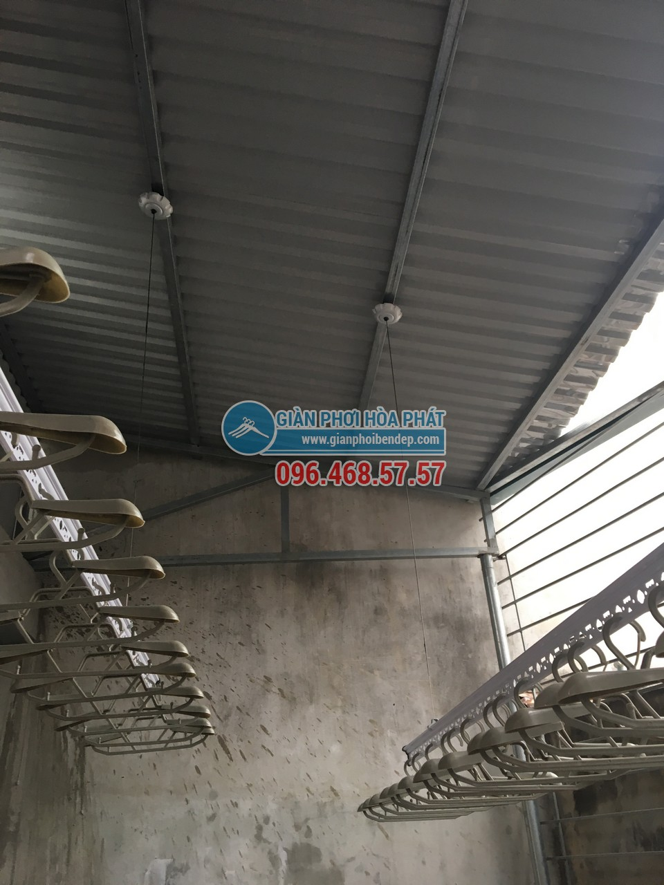 Lắp giàn phơi thông minh cho sân phơi bằng mái tôn nhà anh Chiến, Nguyễn Ngọc Nại - 03