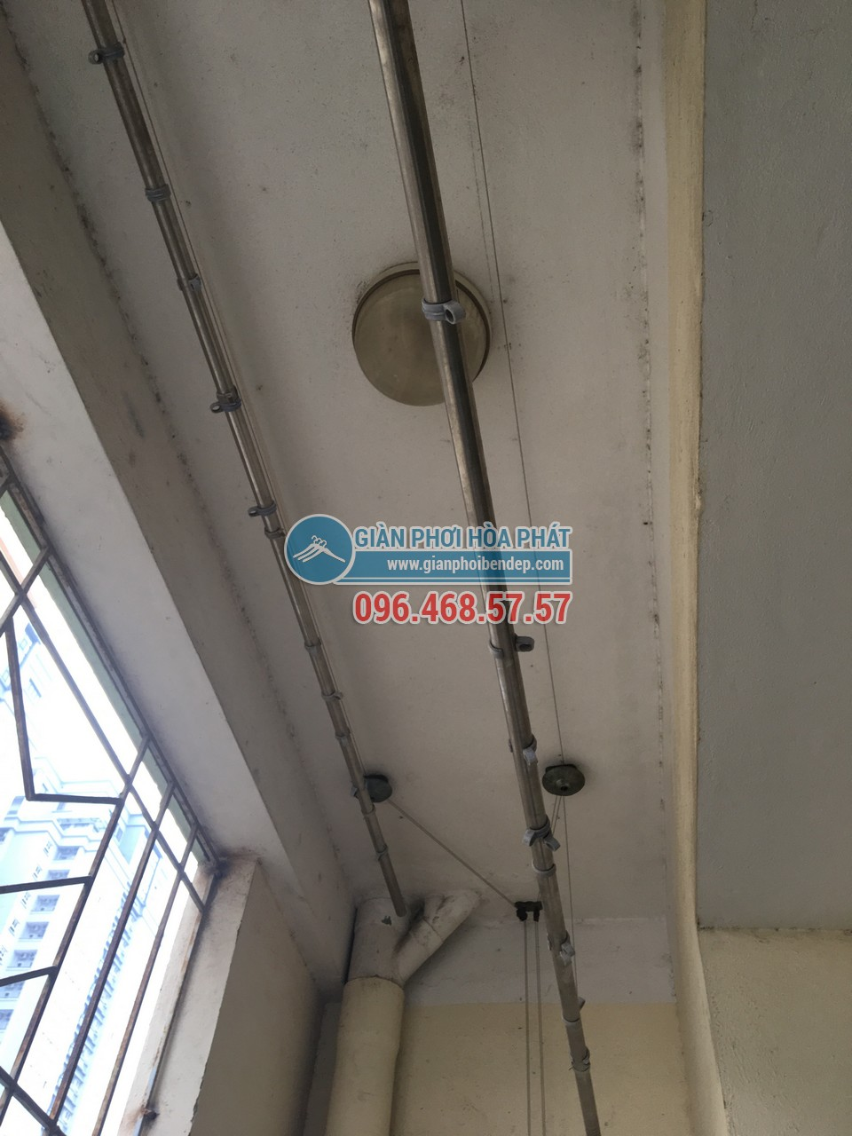 Thay dây cáp cho giàn phơi thông minh nhà chị Hường, P805, Tòa CT4-5, KĐT Yên Hòa - 03