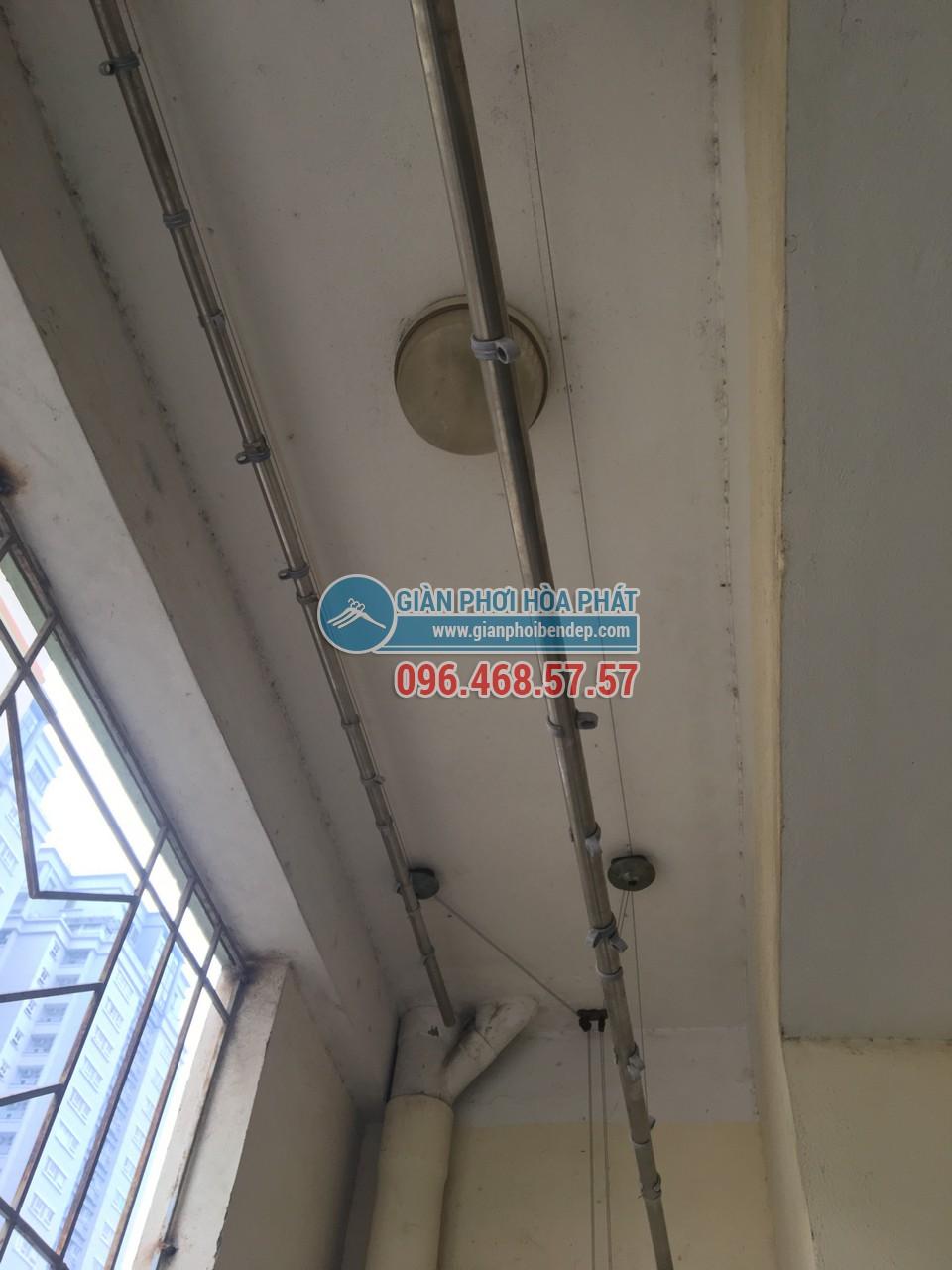 Thay dây cáp cho giàn phơi thông minh nhà chị Hường, P805, Tòa CT4-5, KĐT Yên Hòa