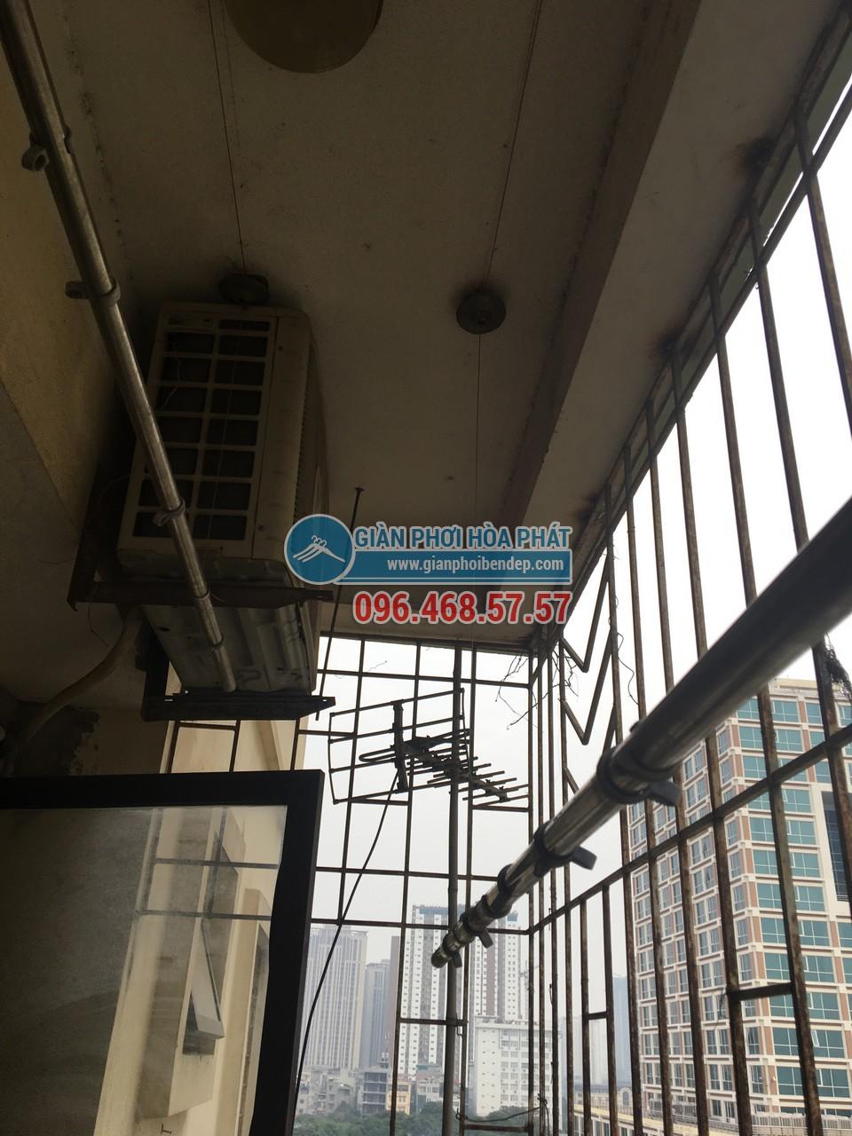 Thay dây cáp cho giàn phơi thông minh nhà chị Hường, P805, Tòa CT4-5, KĐT Yên Hòa - 05