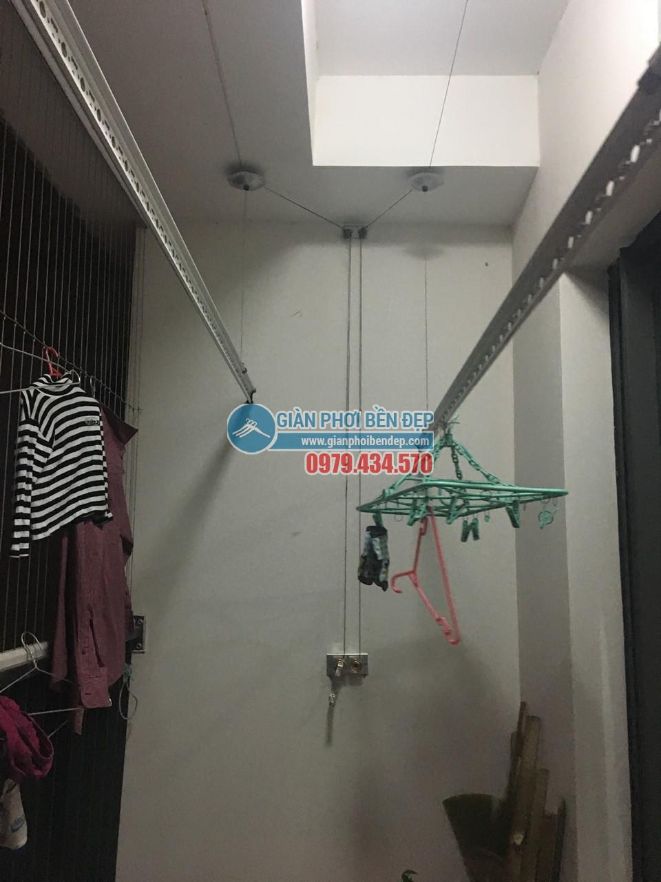 Thay dây cáp cho giàn phơi thông minh nhà chị Linh, tòa Hà Đô Park View