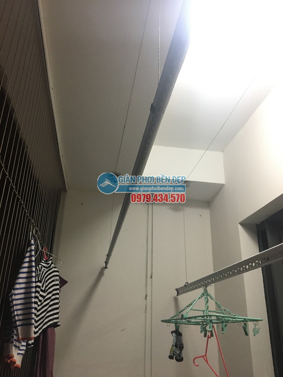 Thay dây cáp cho giàn phơi thông minh nhà chị Linh, tòa Hà Đô Park View - 03
