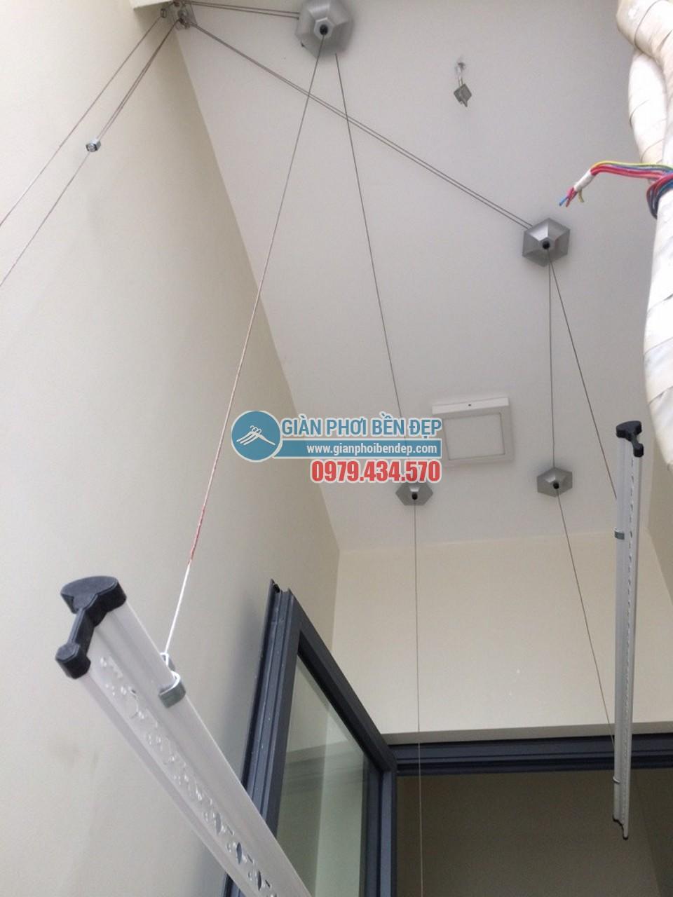 Hoàn thiện lắp đặt giàn phơi thông minh nhà chị Tâm, chung cư 75 Tam Trinh