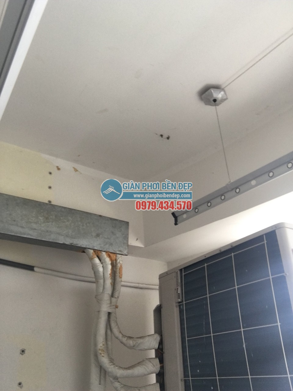 Hoàn thiện thay dây cáp giàn phơi thông minh nhà cô Liên, KĐT Nam Cường - Cổ Nhuế - 05