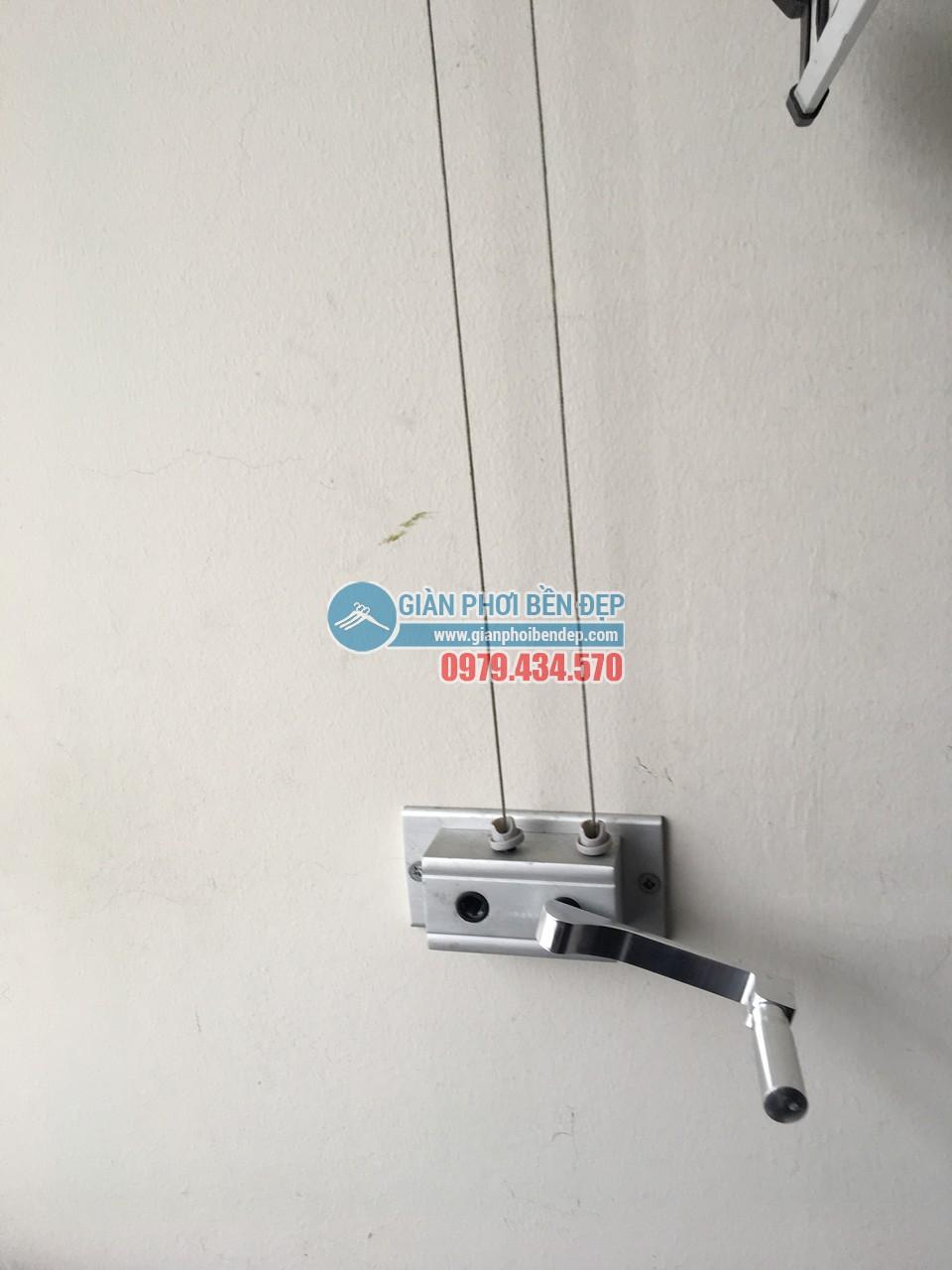 Hoàn thiện thay dây cáp giàn phơi thông minh nhà cô Liên, KĐT Nam Cường - Cổ Nhuế - 07