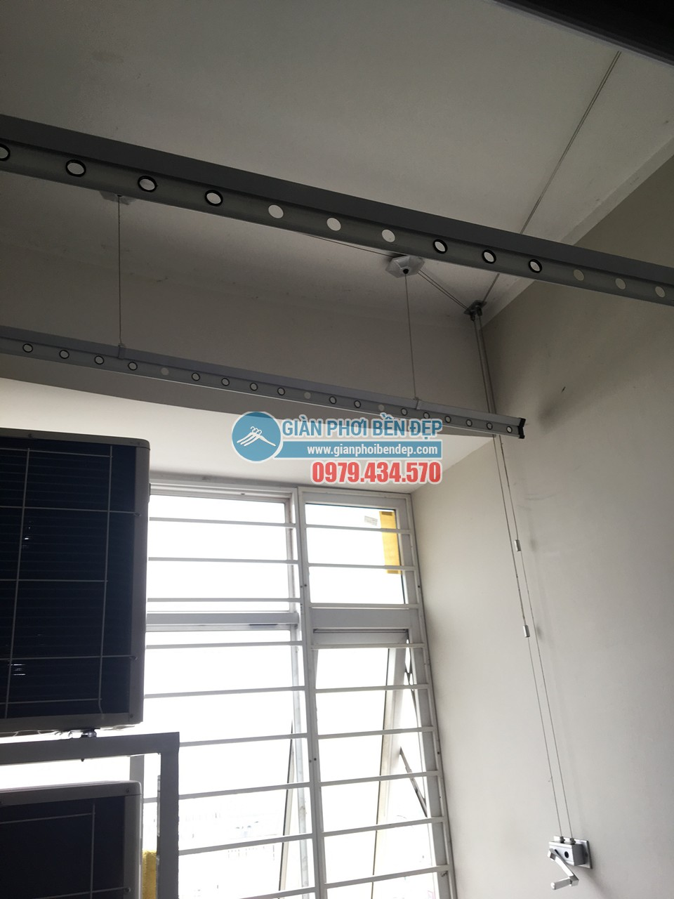Hoàn thiện thay dây cáp giàn phơi thông minh nhà cô Liên, KĐT Nam Cường - Cổ Nhuế - 06