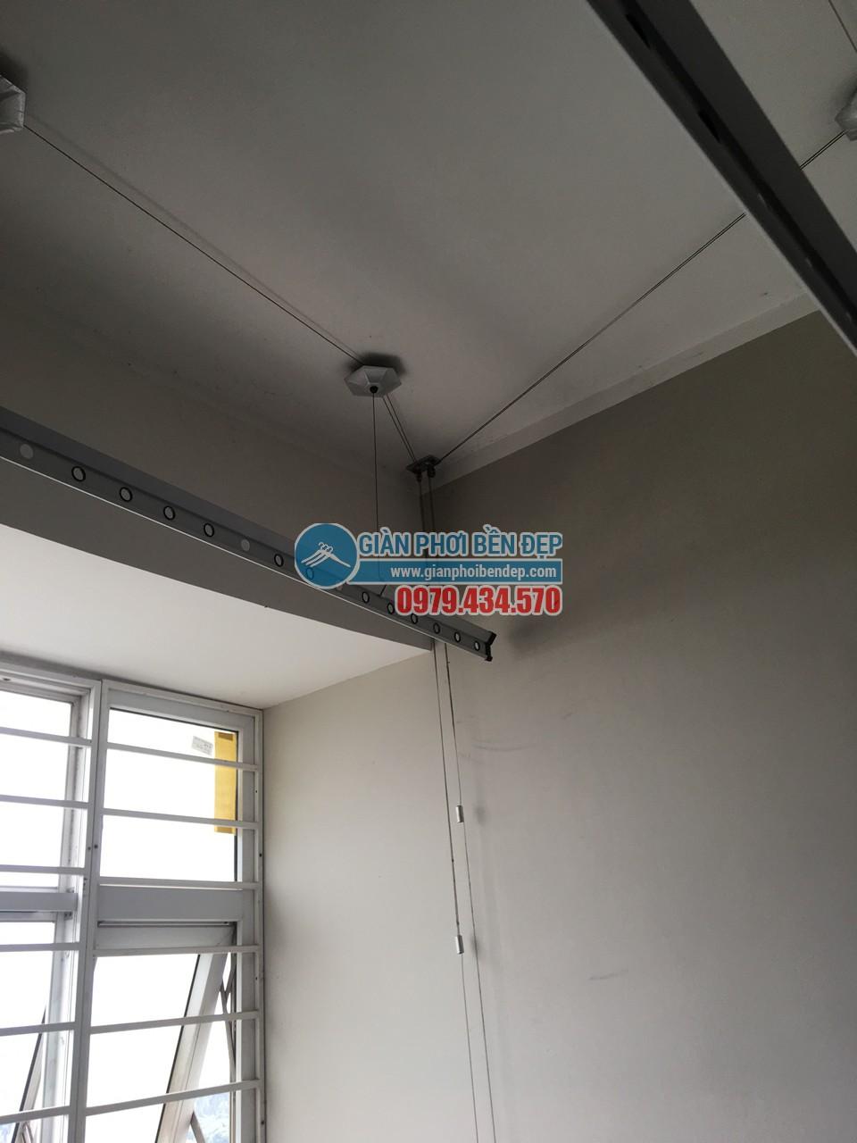 Hoàn thiện thay dây cáp giàn phơi thông minh nhà cô Liên, KĐT Nam Cường - Cổ Nhuế - 02