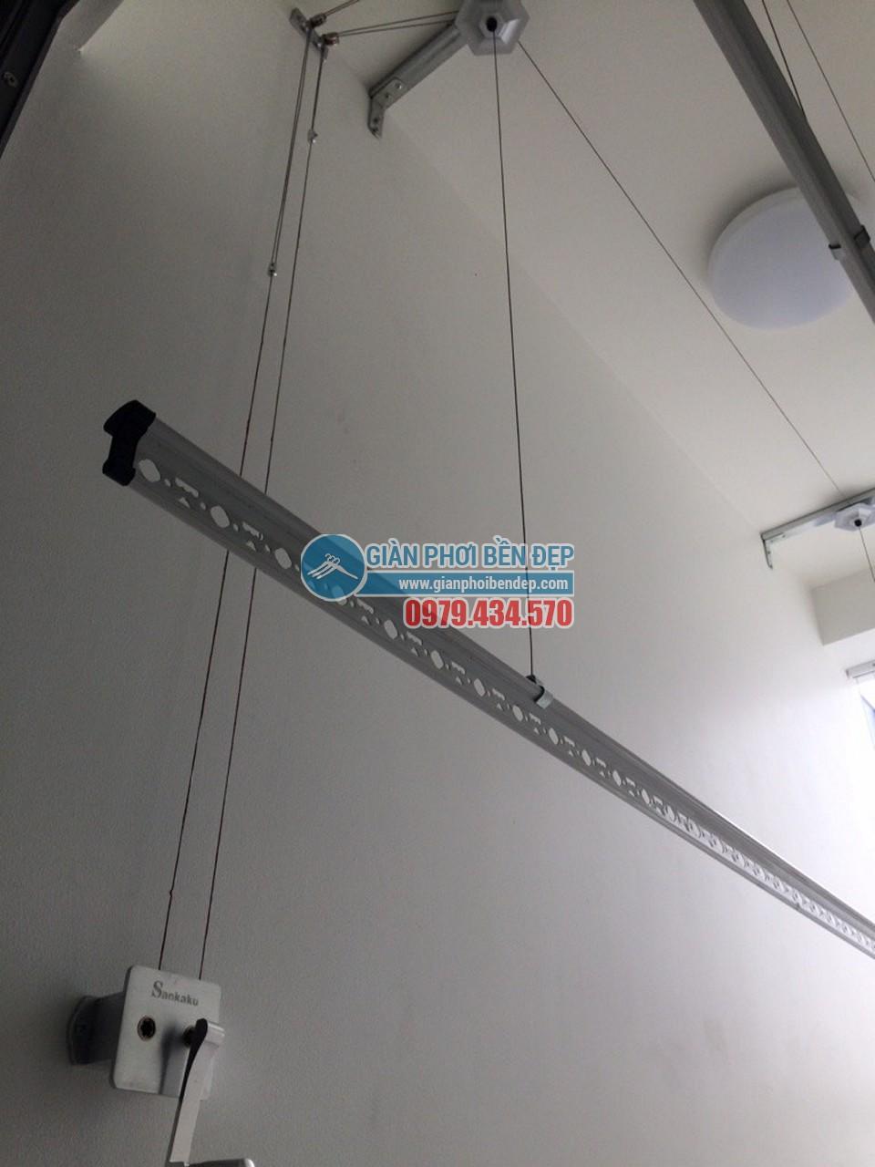 Lắp đặt bộ giàn phơi thông minh sankaku nhà chị Minh, Thăng Long Number One- 03