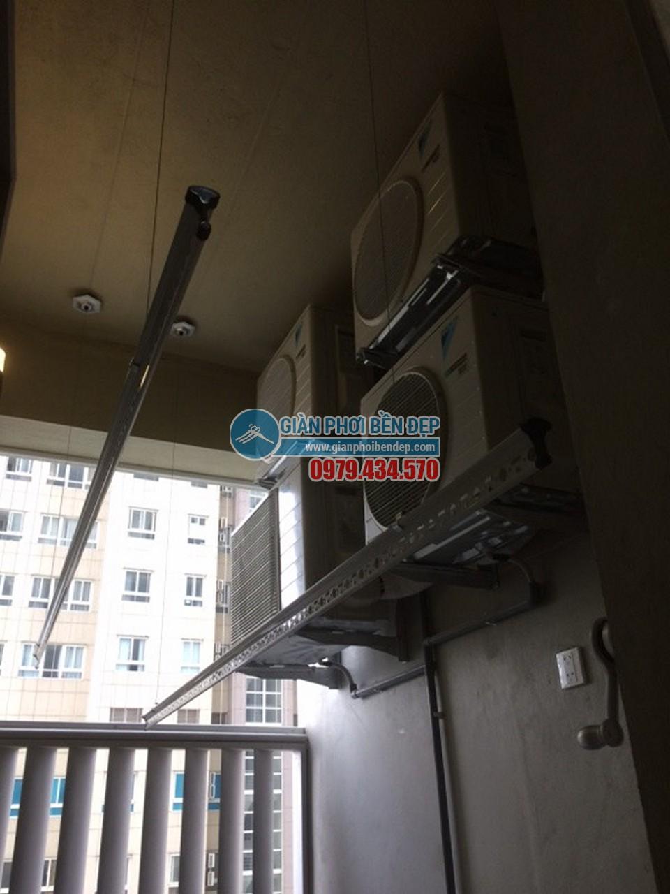 Lắp đặt giàn phơi thông minh nhà cô Điểm, chung cư Thăng Long Number One - 07