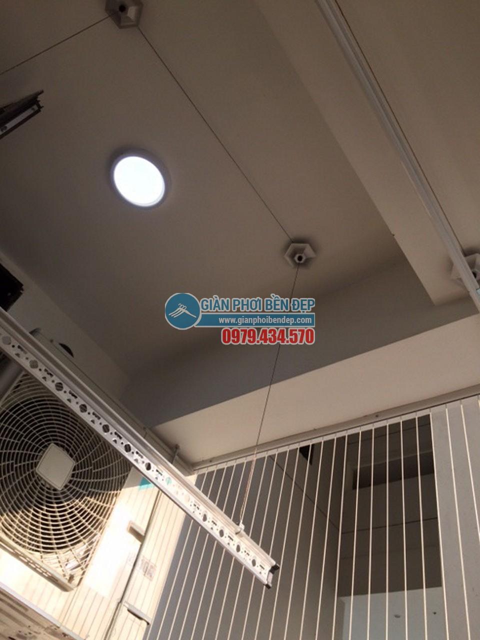 Lắp đặt giàn phơi thông minh tại khu trần giật cấp nhà chị Linh, Tòa HH4 Linh Đàm - 02