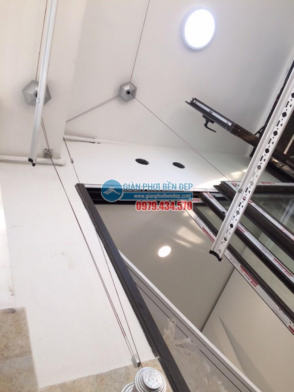 Lắp đặt giàn phơi thông minh tại khu trần giật cấp nhà chị Linh, Tòa HH4 Linh Đàm