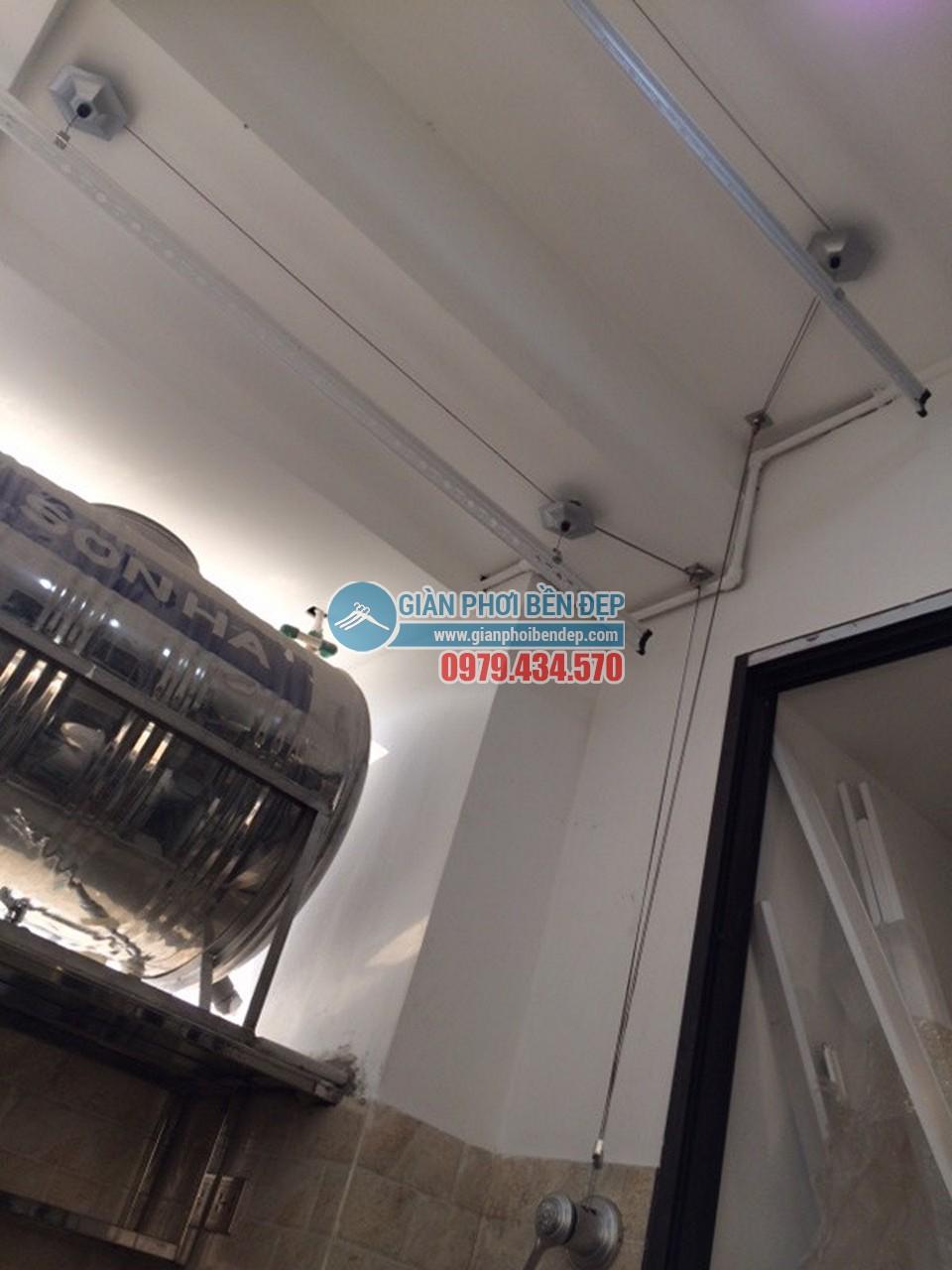 Lắp đặt giàn phơi thông minh tại khu trần giật cấp nhà chị Linh, Tòa HH4 Linh Đàm - 04