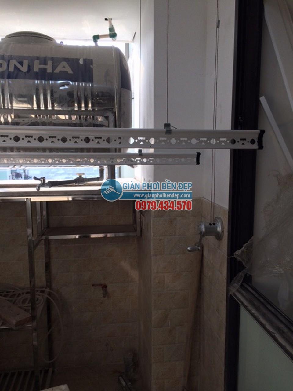 Lắp đặt giàn phơi thông minh tại khu trần giật cấp nhà chị Linh, Tòa HH4 Linh Đàm - 07