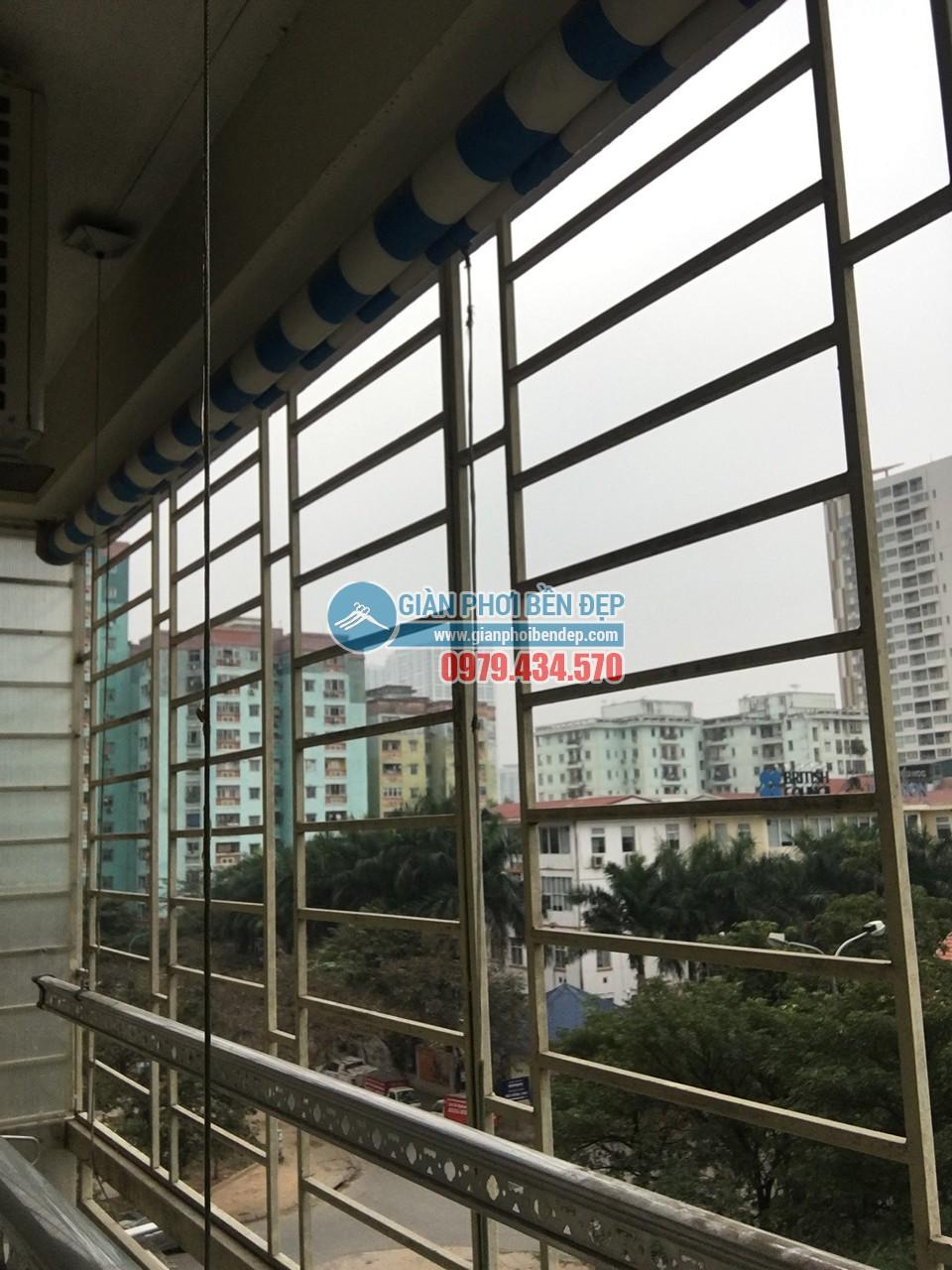 Sửa giàn phơi thông minh nhà cô Tâm bị đứt dây cáp, tòa CT3A Trung Hòa - 07