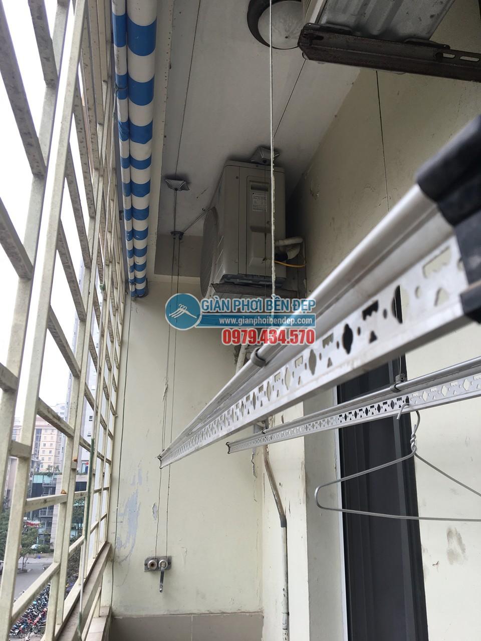 Sửa giàn phơi thông minh nhà cô Tâm bị đứt dây cáp, tòa CT3A Trung Hòa - 06