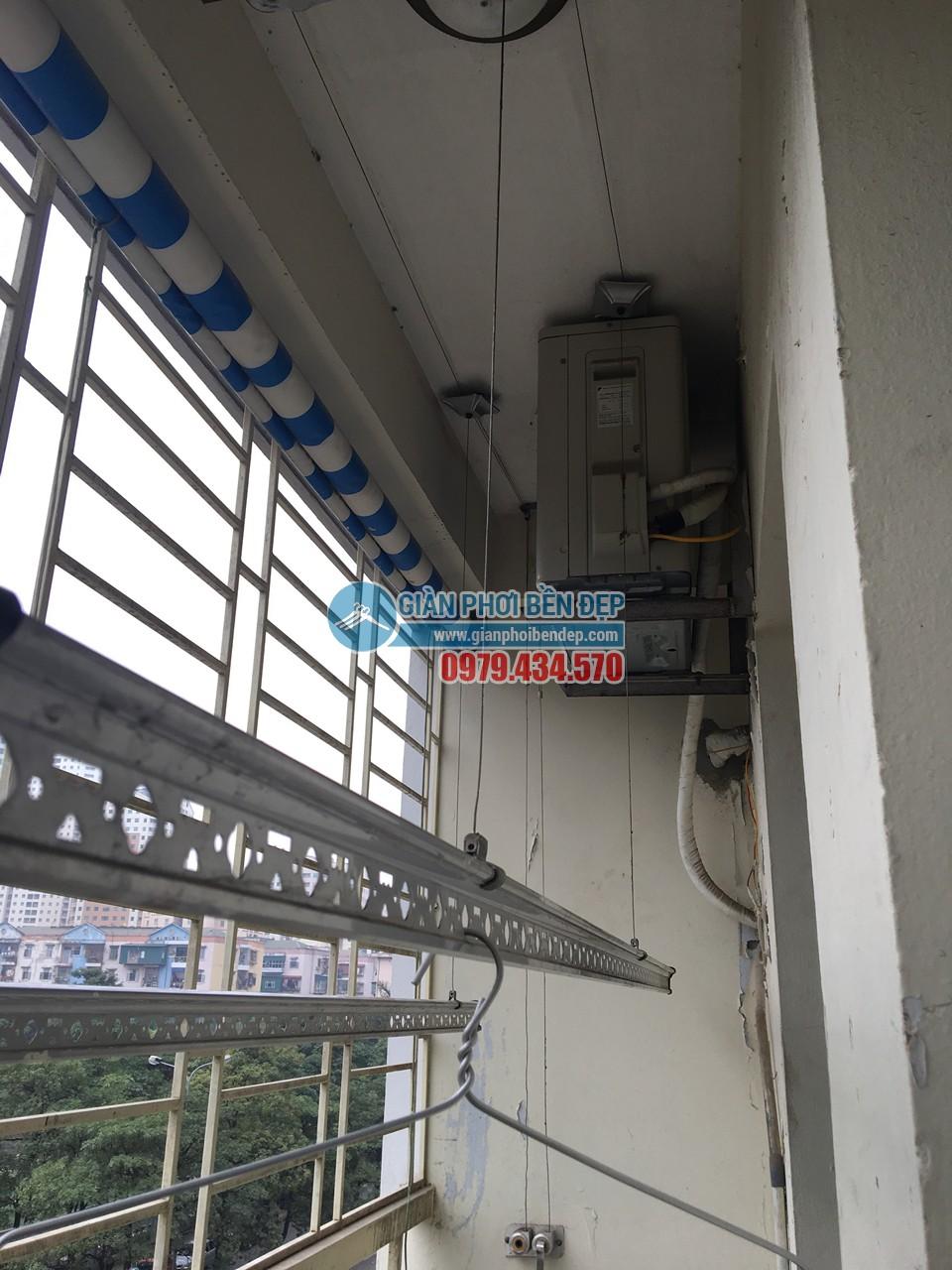 Sửa giàn phơi thông minh nhà cô Tâm bị đứt dây cáp, tòa CT3A Trung Hòa - 05