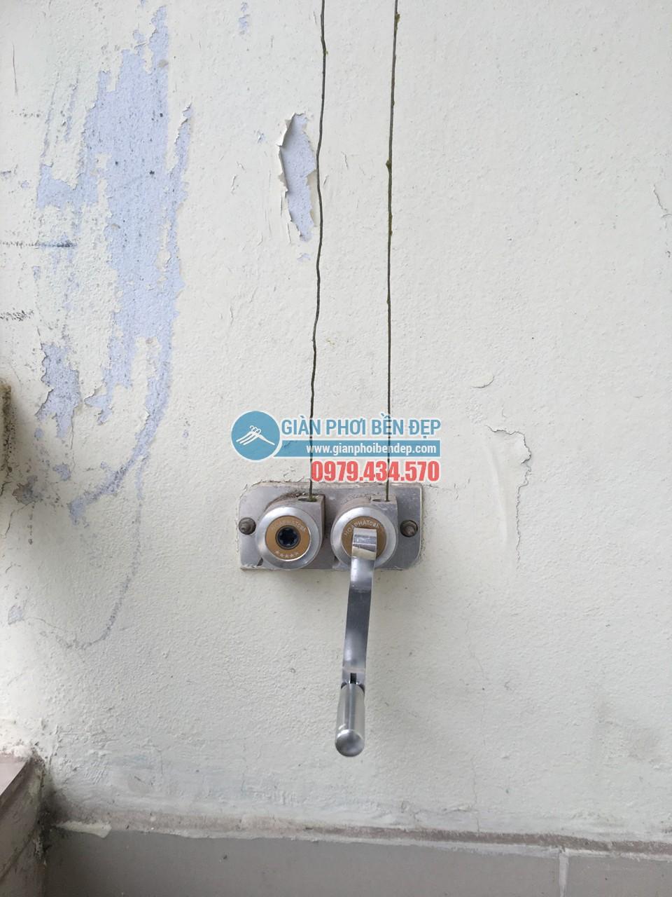 Sửa giàn phơi thông minh nhà cô Tâm bị đứt dây cáp, tòa CT3A Trung Hòa - 01