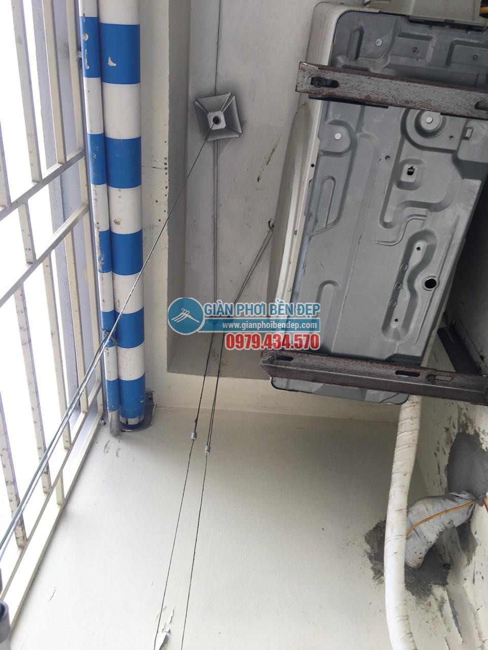 Sửa giàn phơi thông minh nhà cô Tâm bị đứt dây cáp, tòa CT3A Trung Hòa - 02