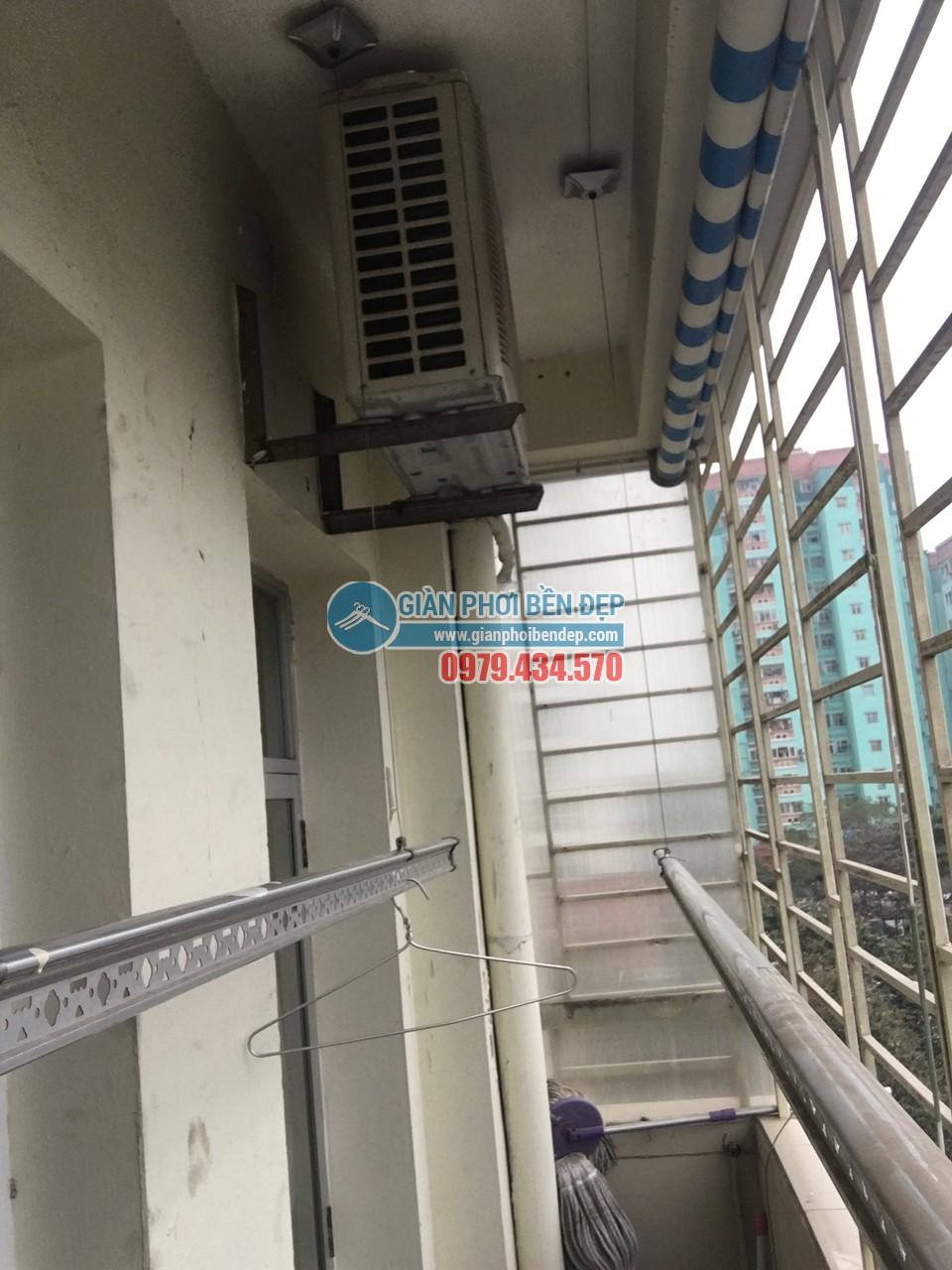 Sửa giàn phơi thông minh nhà cô Tâm bị đứt dây cáp, tòa CT3A Trung Hòa - 04