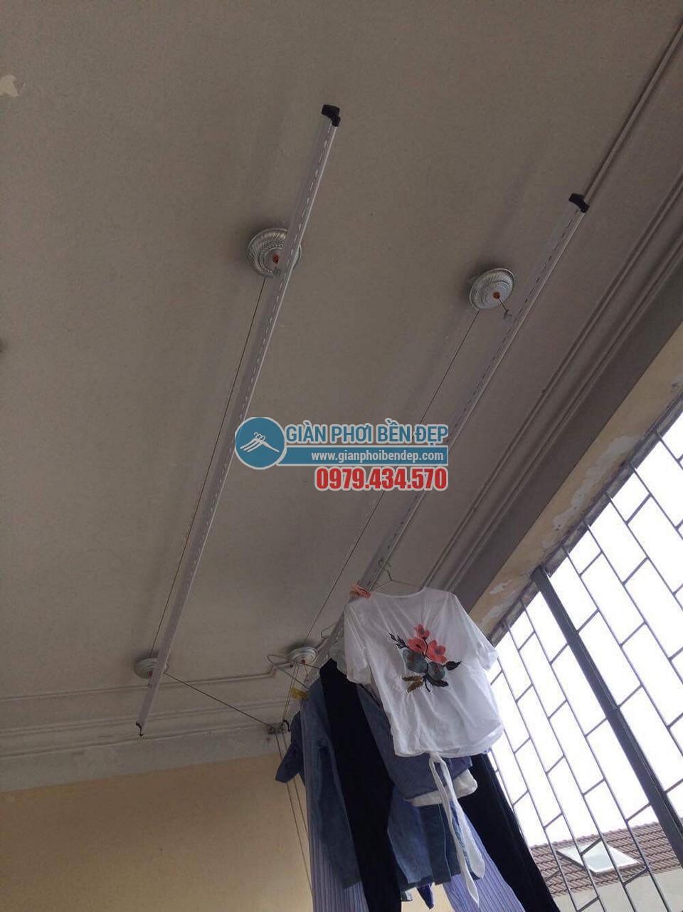 Hoàn thiện lắp đặt giàn phơi thông minh nhà cô Bảo, Bắc Cầu - 04