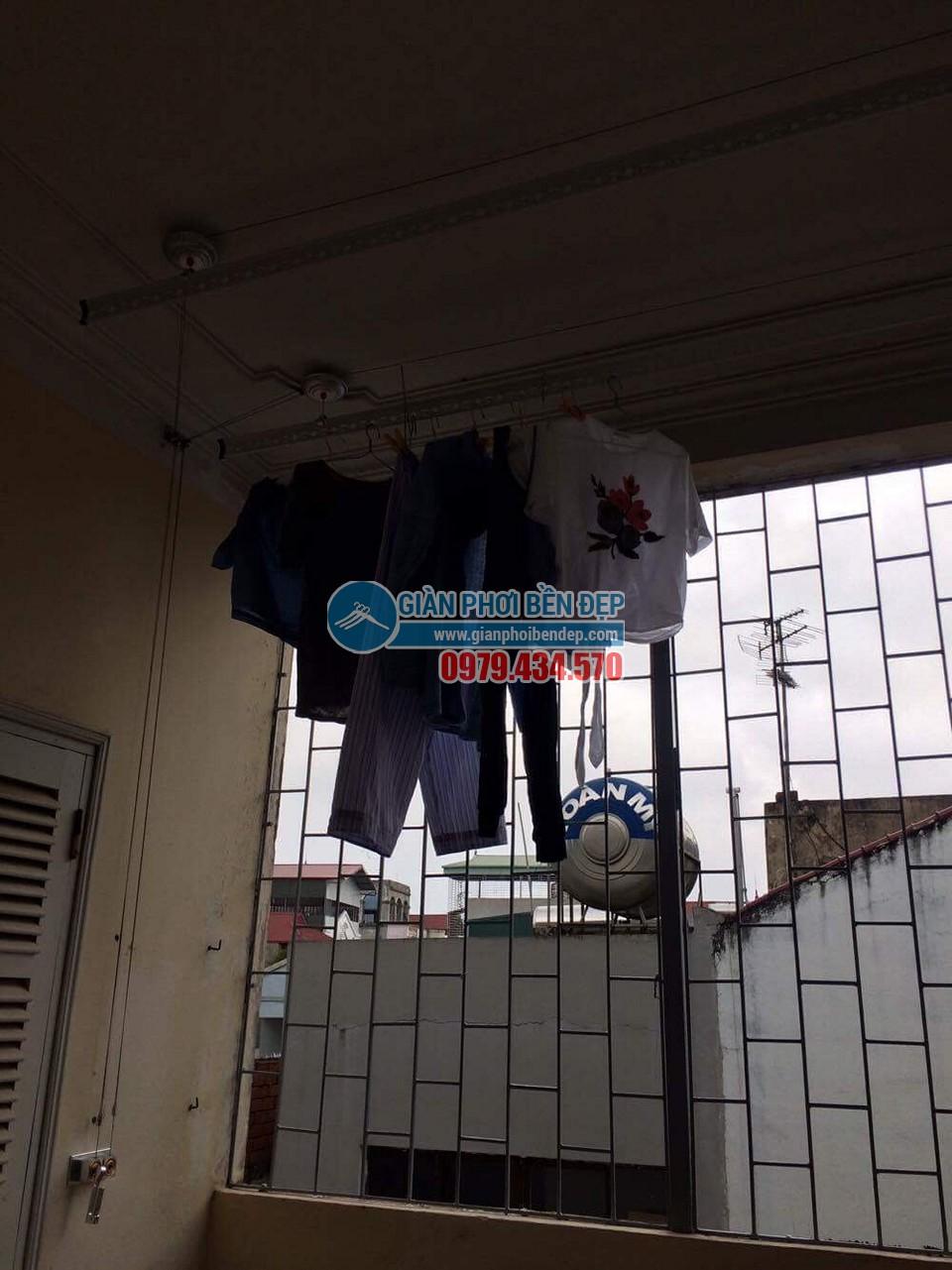 Hoàn thiện lắp đặt giàn phơi thông minh nhà cô Bảo, Bắc Cầu - 05