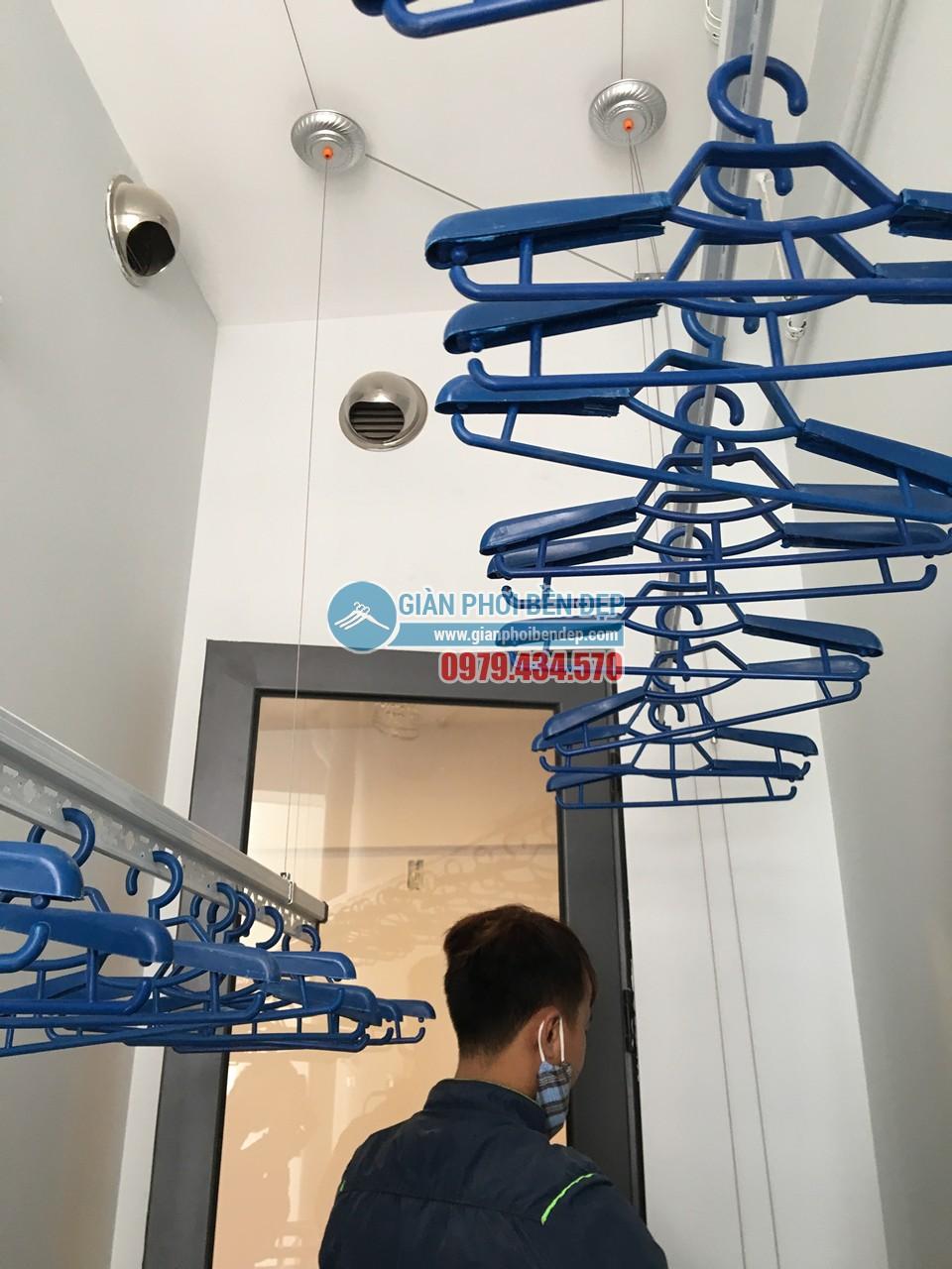 Hoàn thiện lắp đặt giàn phơi thông minh tại lô gia nhà chị Hương, Gamuda - 05