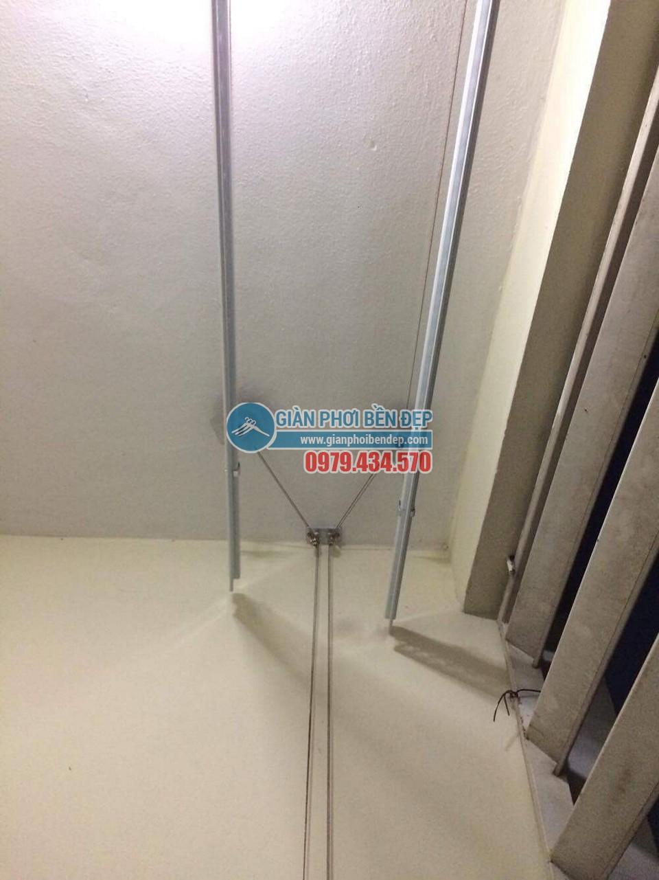 Hoàn thiện lắp đặt giàn phơi thông minh tại nhà chị Hương, chung cư CT6 Đặng Xá - 04