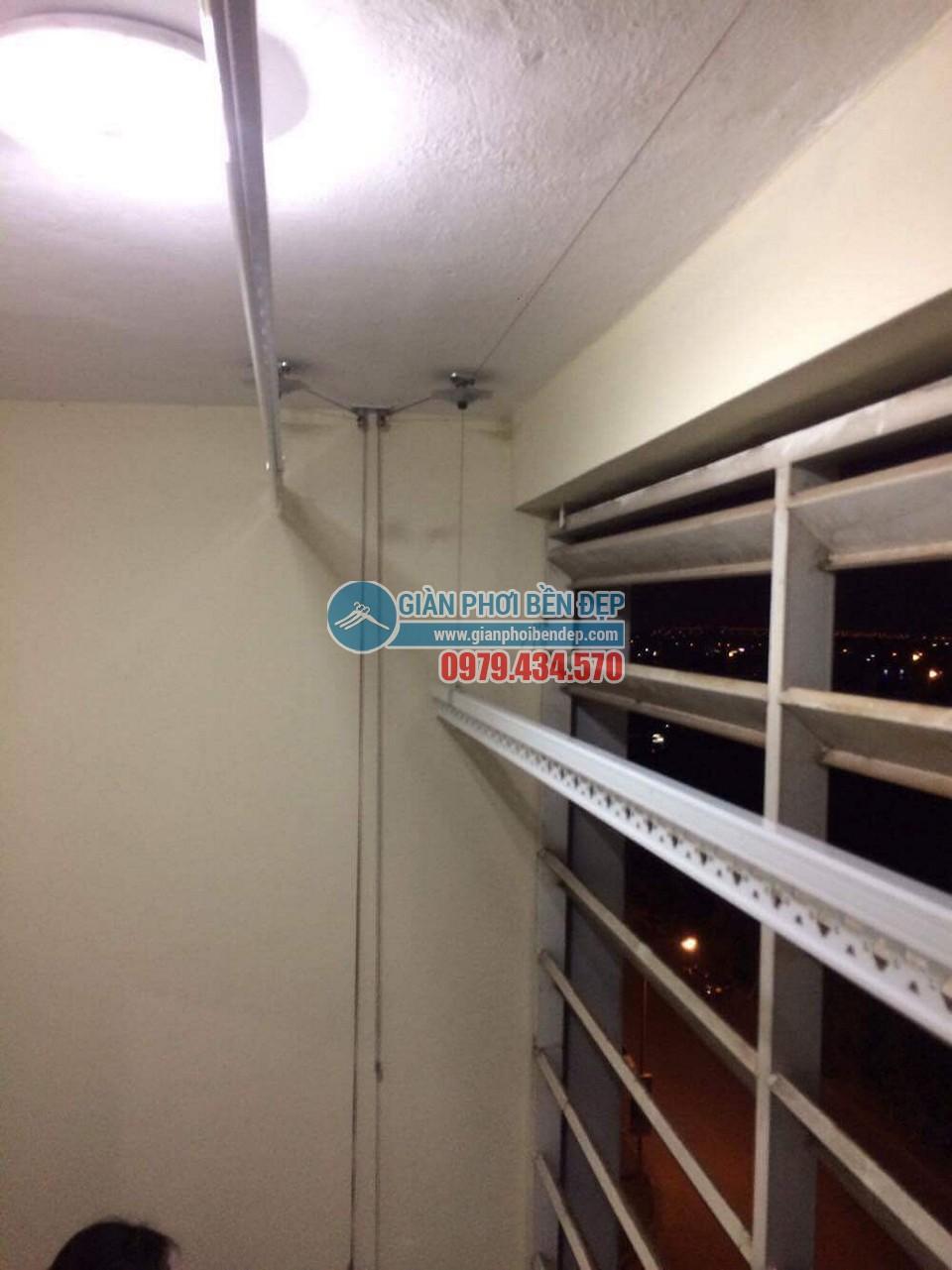 Hoàn thiện lắp đặt giàn phơi thông minh tại nhà chị Hương, chung cư CT6 Đặng Xá