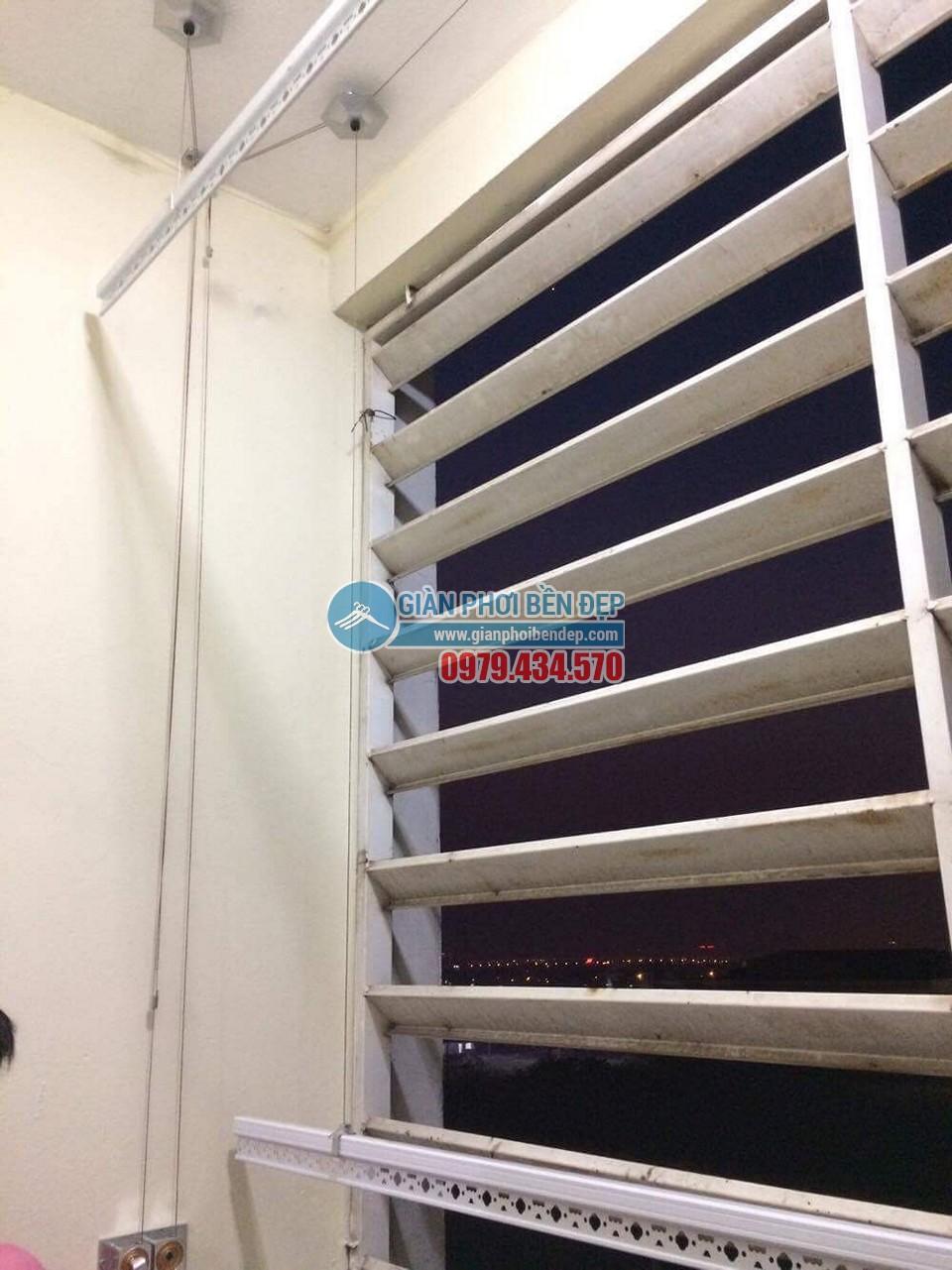 Hoàn thiện lắp đặt giàn phơi thông minh tại nhà chị Hương, chung cư CT6 Đặng Xá - 02