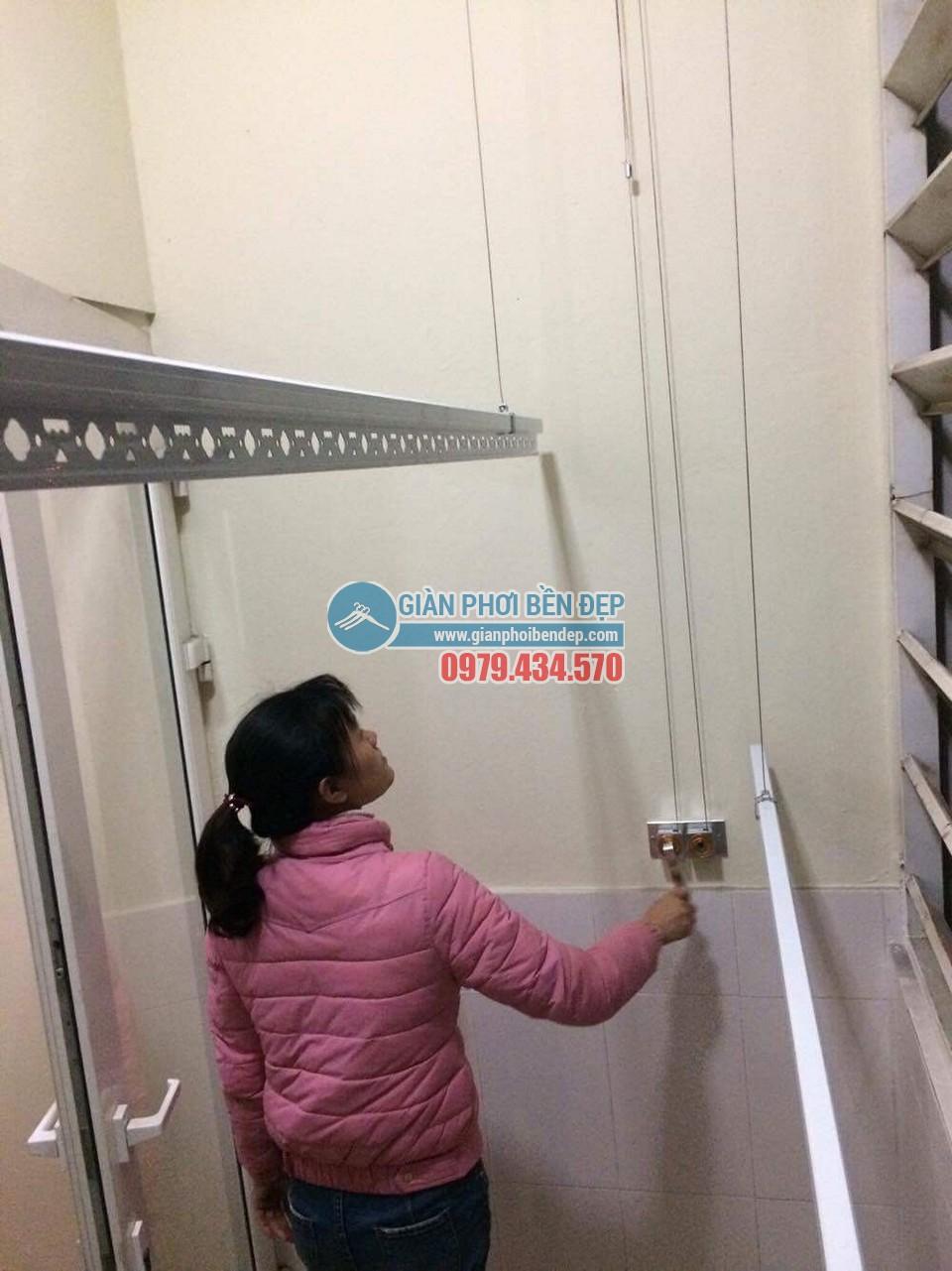 Hoàn thiện lắp đặt giàn phơi thông minh tại nhà chị Hương, chung cư CT6 Đặng Xá - 05