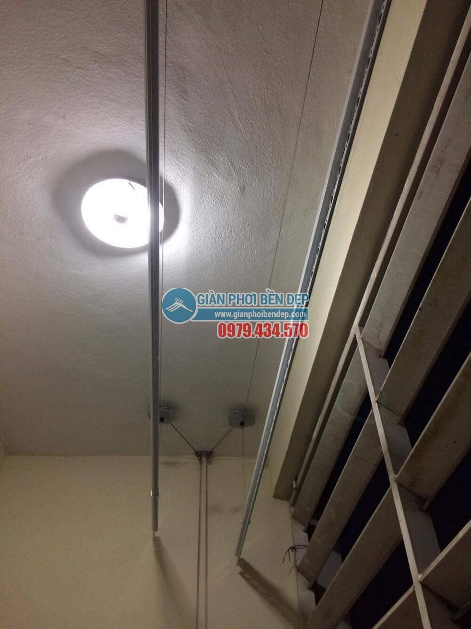 Hoàn thiện lắp đặt giàn phơi thông minh tại nhà chị Hương, chung cư CT6 Đặng Xá - 01