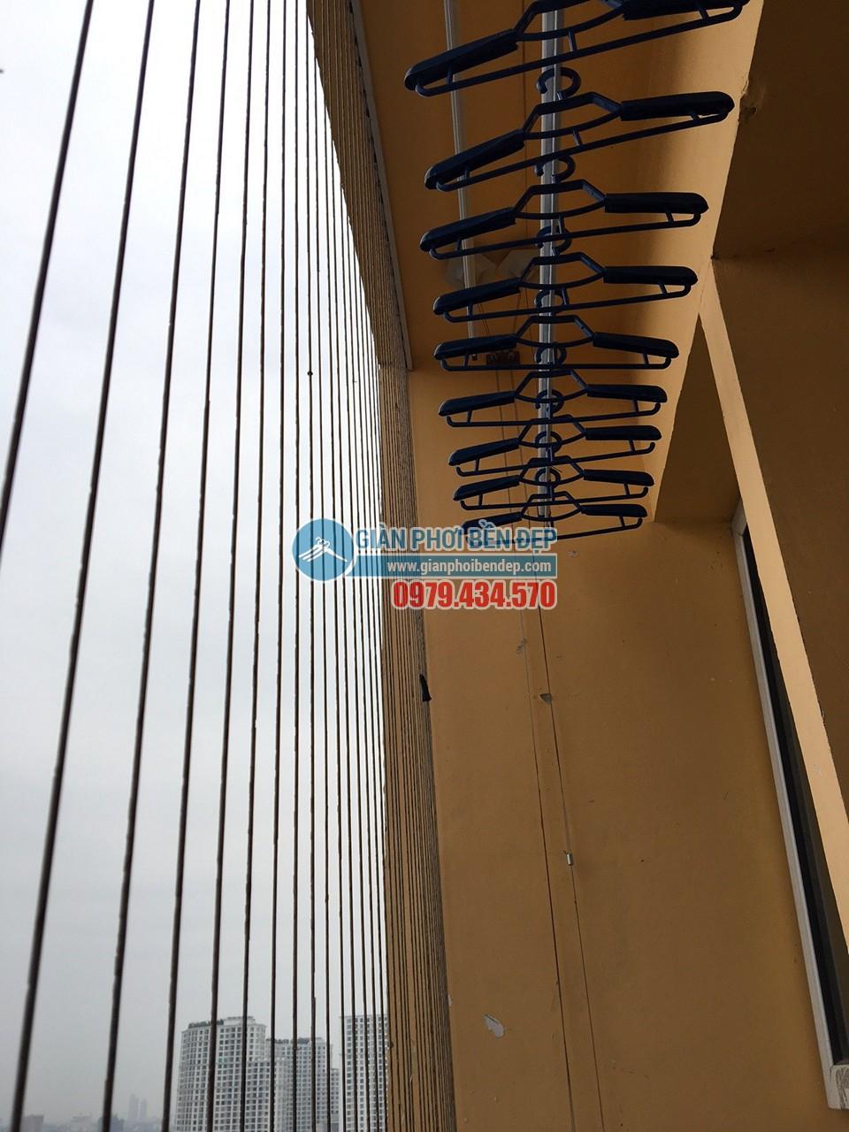 Lắp đặt giàn phơi thông minh tại nhà chị Ngoan, ngõ 58 Vũ Trọng Phụng