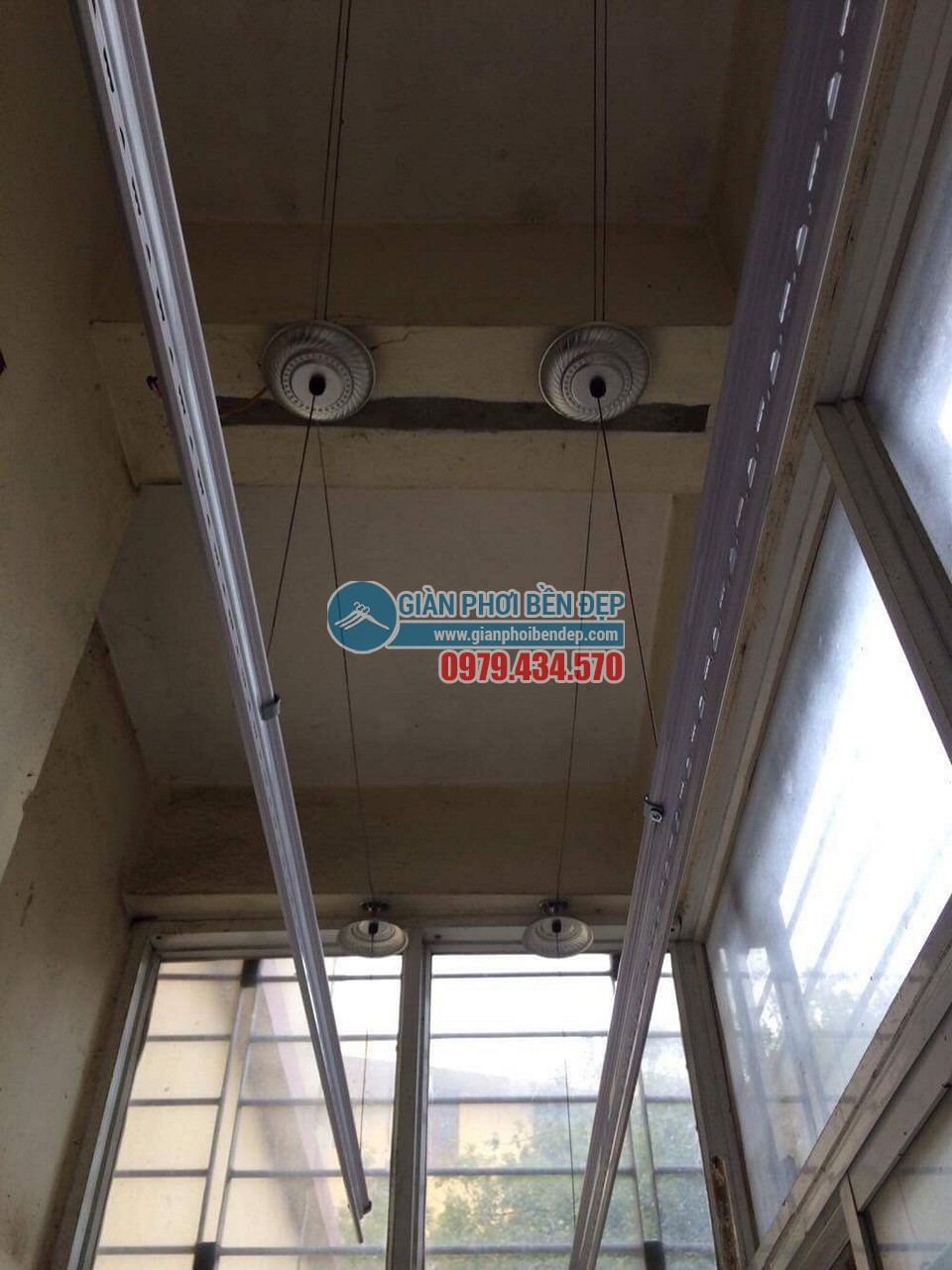 Lắp đặt giàn phơi thông minh nhà chị Minh, Tân Xuân - Xuân Đỉnh - 03