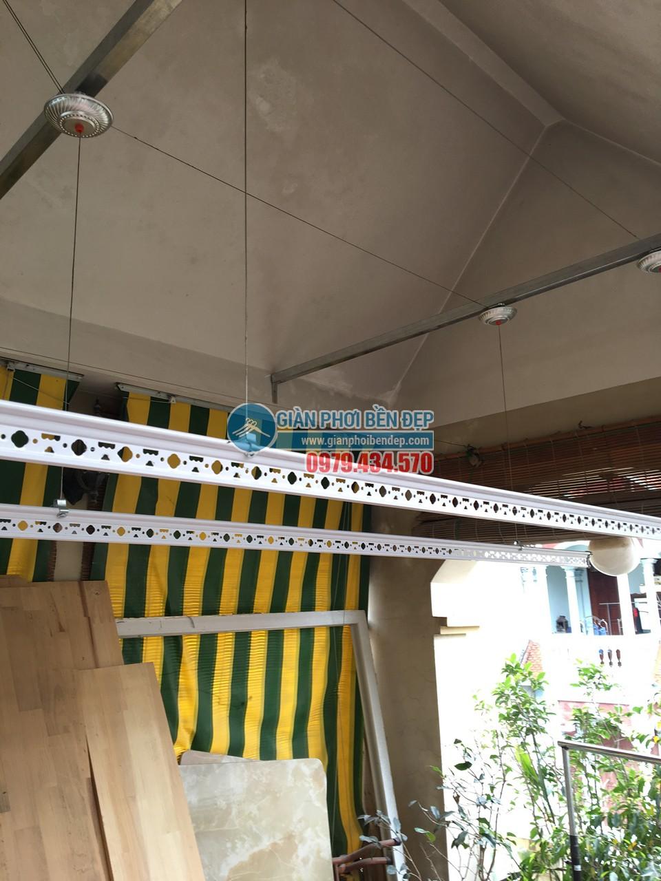 Lắp đặt giàn phơi thông minh tại vị trí mái trần bê tông vát